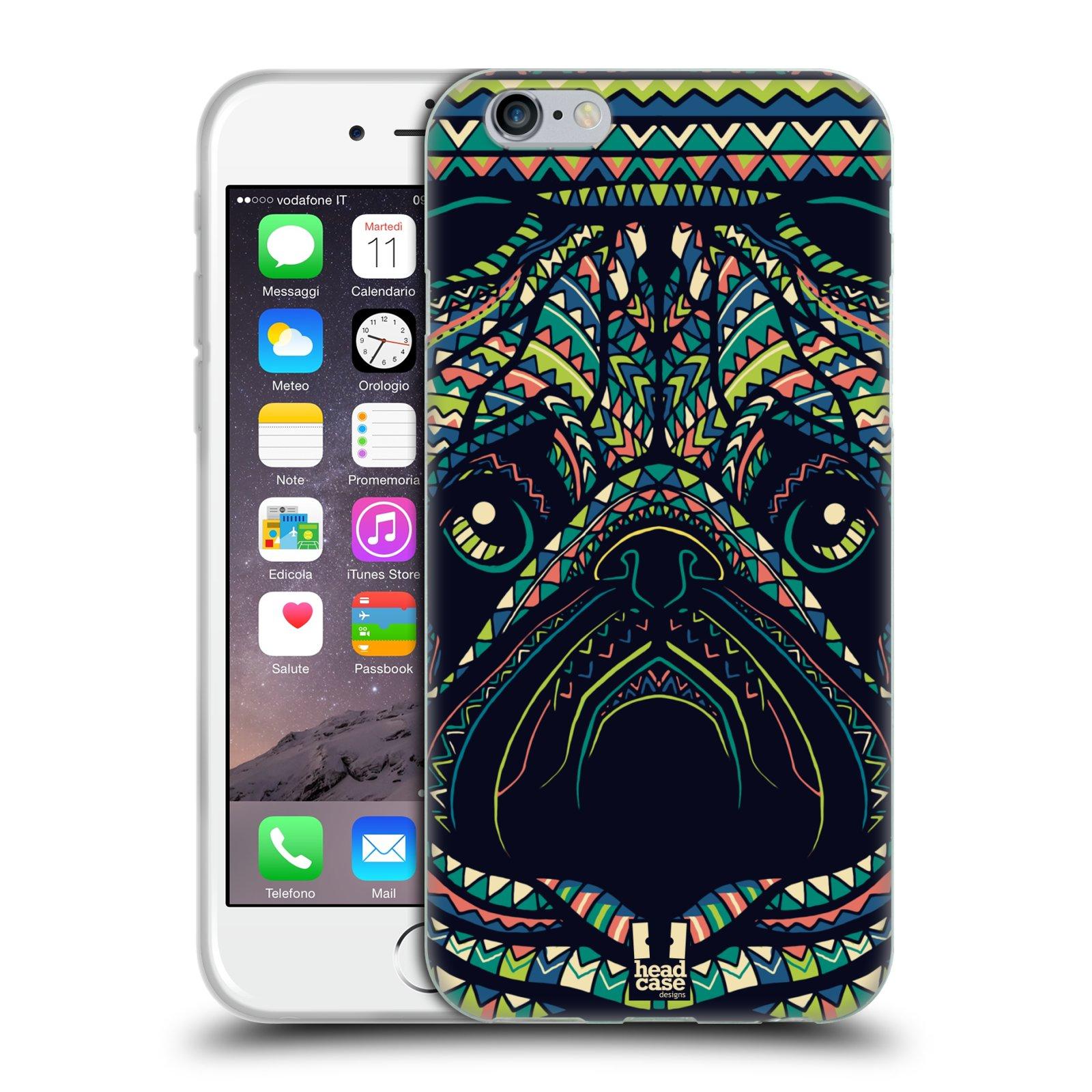 HEAD CASE silikonový obal na mobil Apple Iphone 6/6S vzor Aztécký motiv zvíře 3 mopsík
