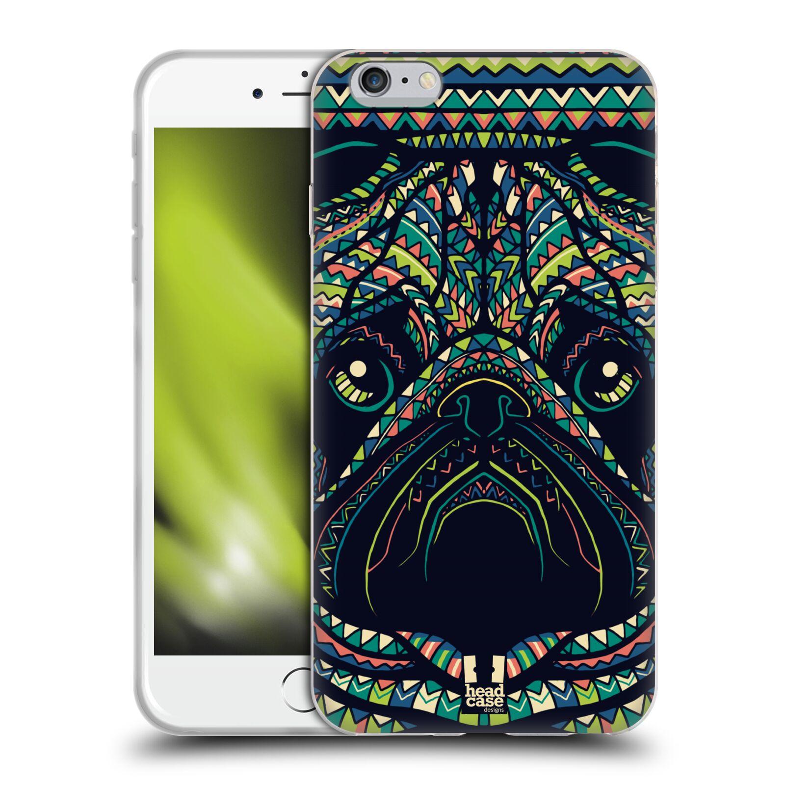 HEAD CASE silikonový obal na mobil Apple Iphone 6 PLUS/ 6S PLUS vzor Aztécký motiv zvíře 3 mopsík