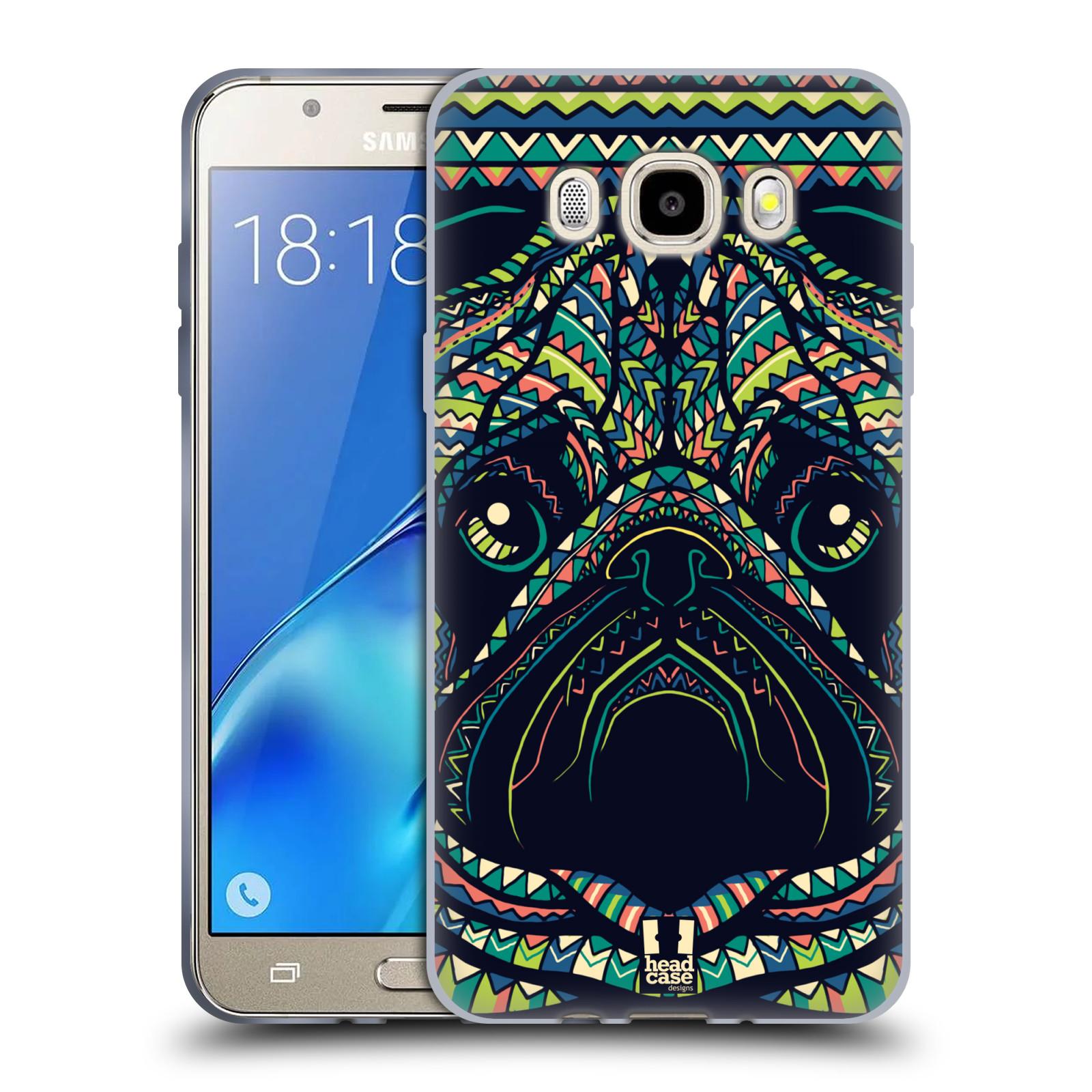 HEAD CASE silikonový obal, kryt na mobil Samsung Galaxy J5 2016, J510, J510F, (J510F DUAL SIM) vzor Aztécký motiv zvíře 3 mopsík