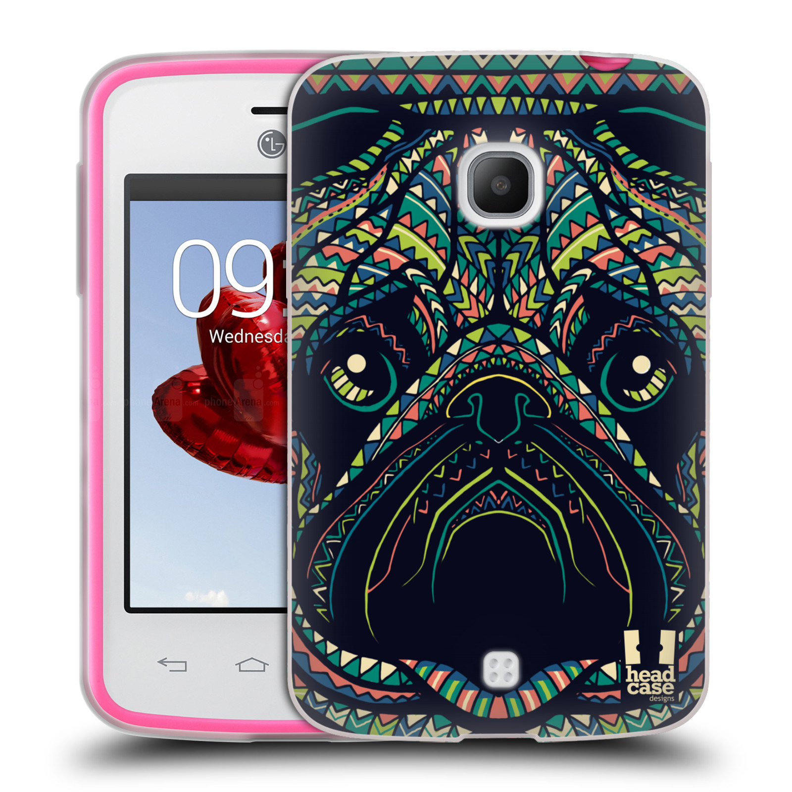HEAD CASE silikonový obal na mobil LG L30 vzor Aztécký motiv zvíře 3 mopsík