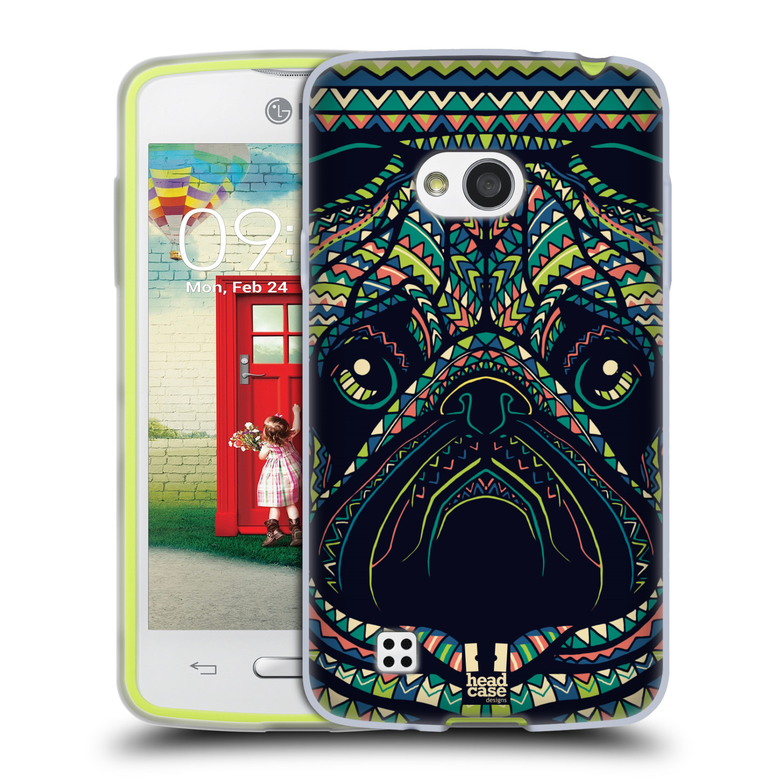 HEAD CASE silikonový obal na mobil LG L50 vzor Aztécký motiv zvíře 3 mopsík