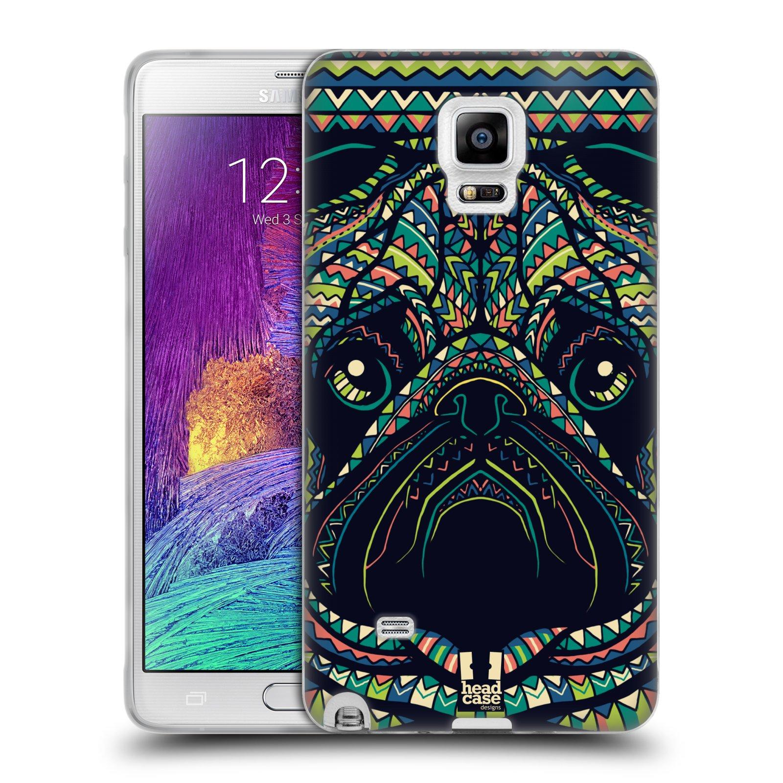 HEAD CASE silikonový obal na mobil Samsung Galaxy Note 4 (N910) vzor Aztécký motiv zvíře 3 mopsík