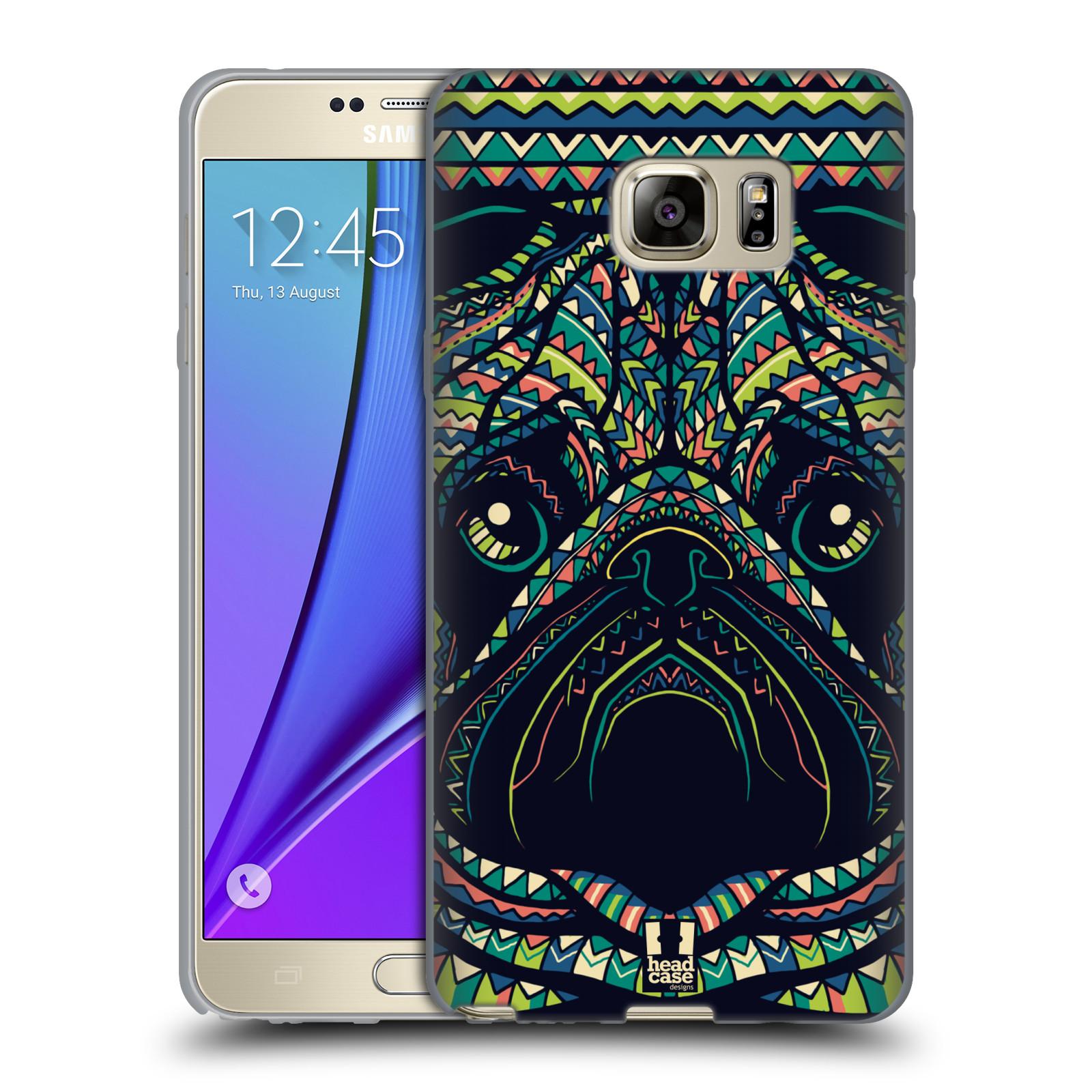HEAD CASE silikonový obal na mobil Samsung Galaxy Note 5 (N920) vzor Aztécký motiv zvíře 3 mopsík