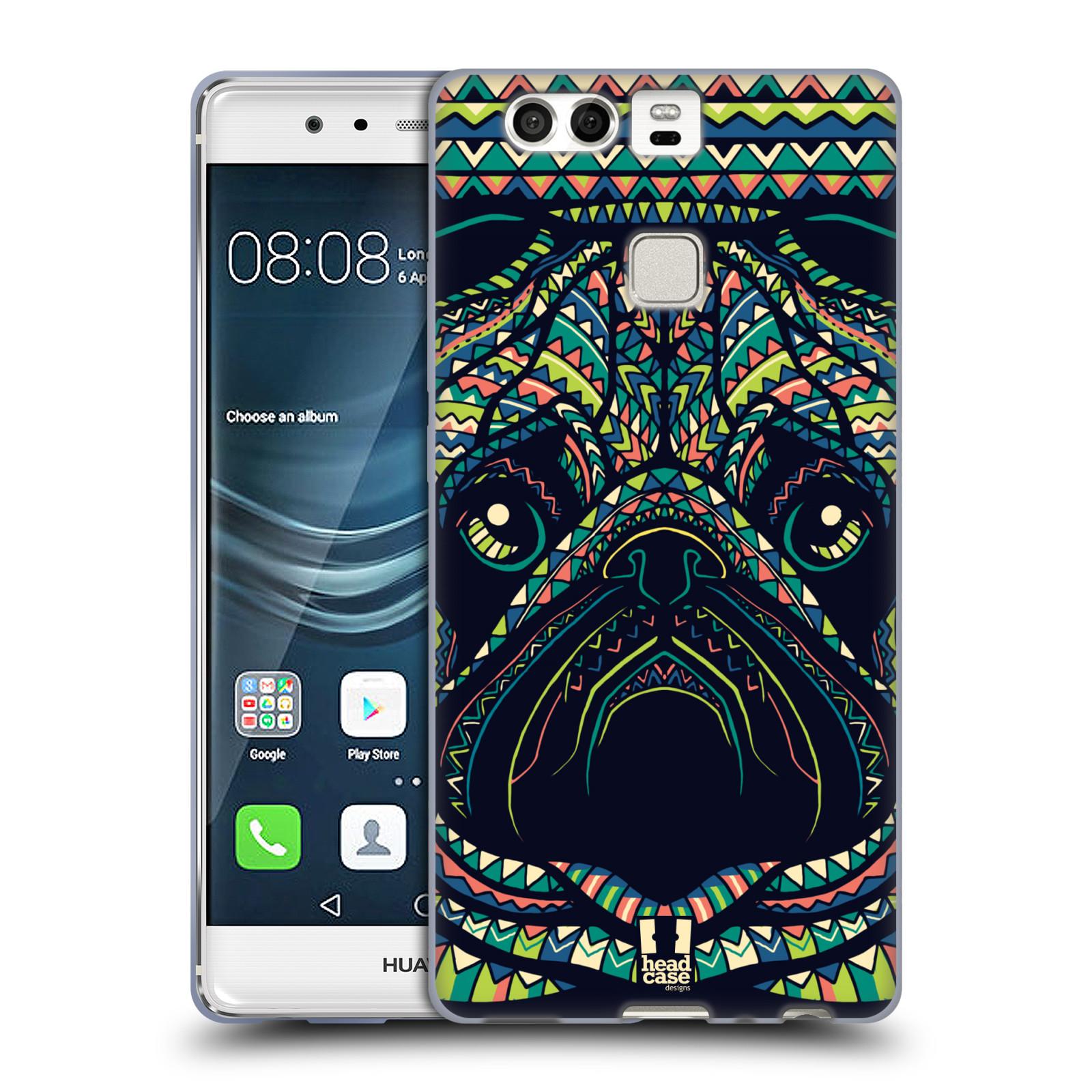 HEAD CASE silikonový obal na mobil Huawei P9 / P9 DUAL SIM vzor Aztécký motiv zvíře 3 mopsík