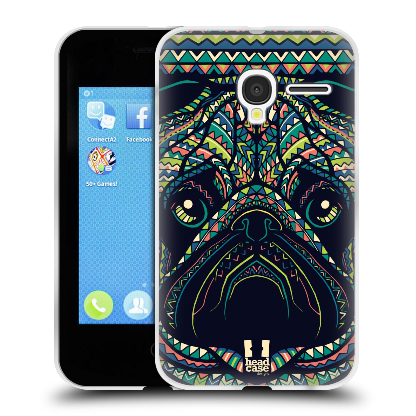 HEAD CASE silikonový obal na mobil Alcatel PIXI 3 OT-4022D (3,5 palcový displej) vzor Aztécký motiv zvíře 3 mopsík