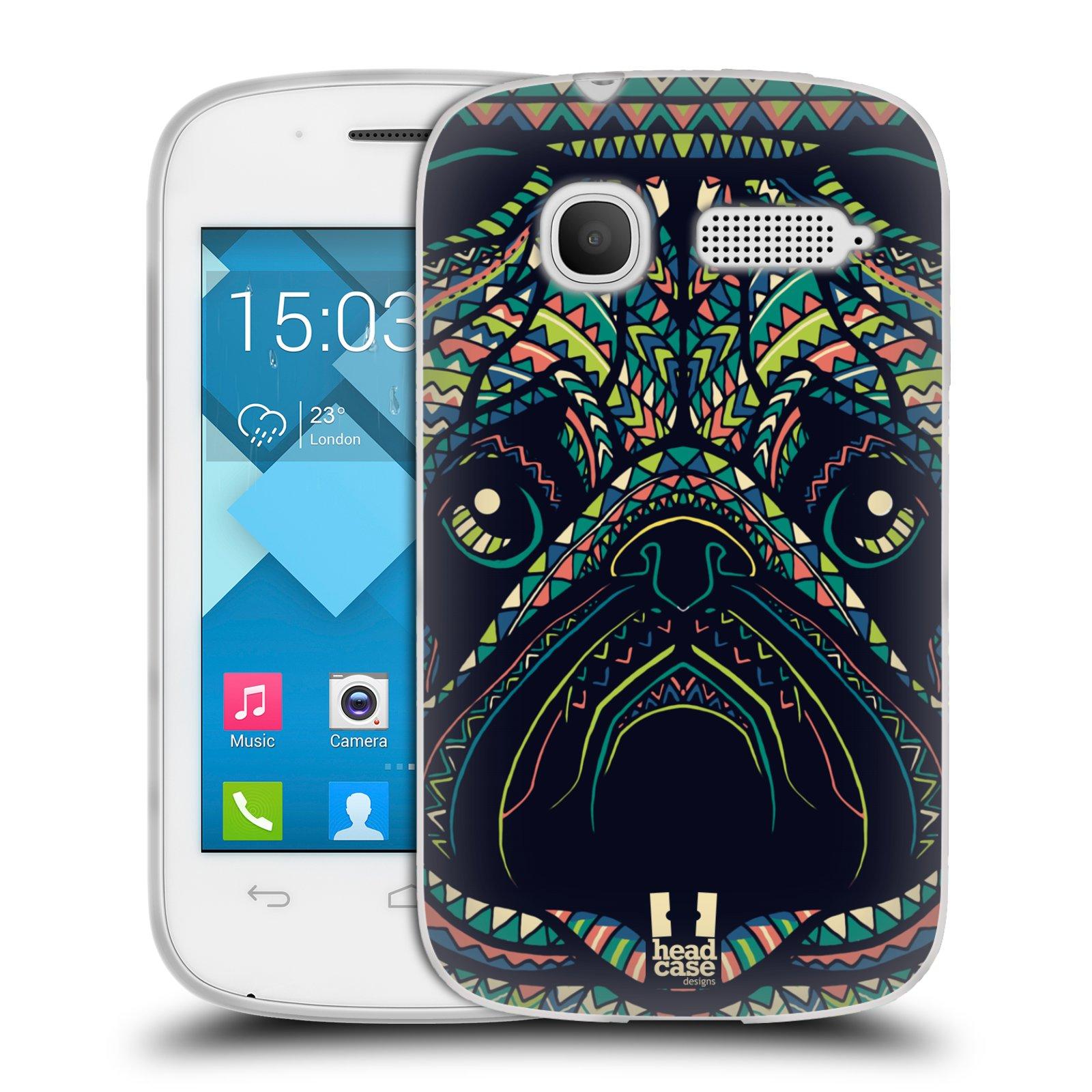 HEAD CASE silikonový obal na mobil Alcatel POP C1 OT-4015D vzor Aztécký motiv zvíře 3 mopsík