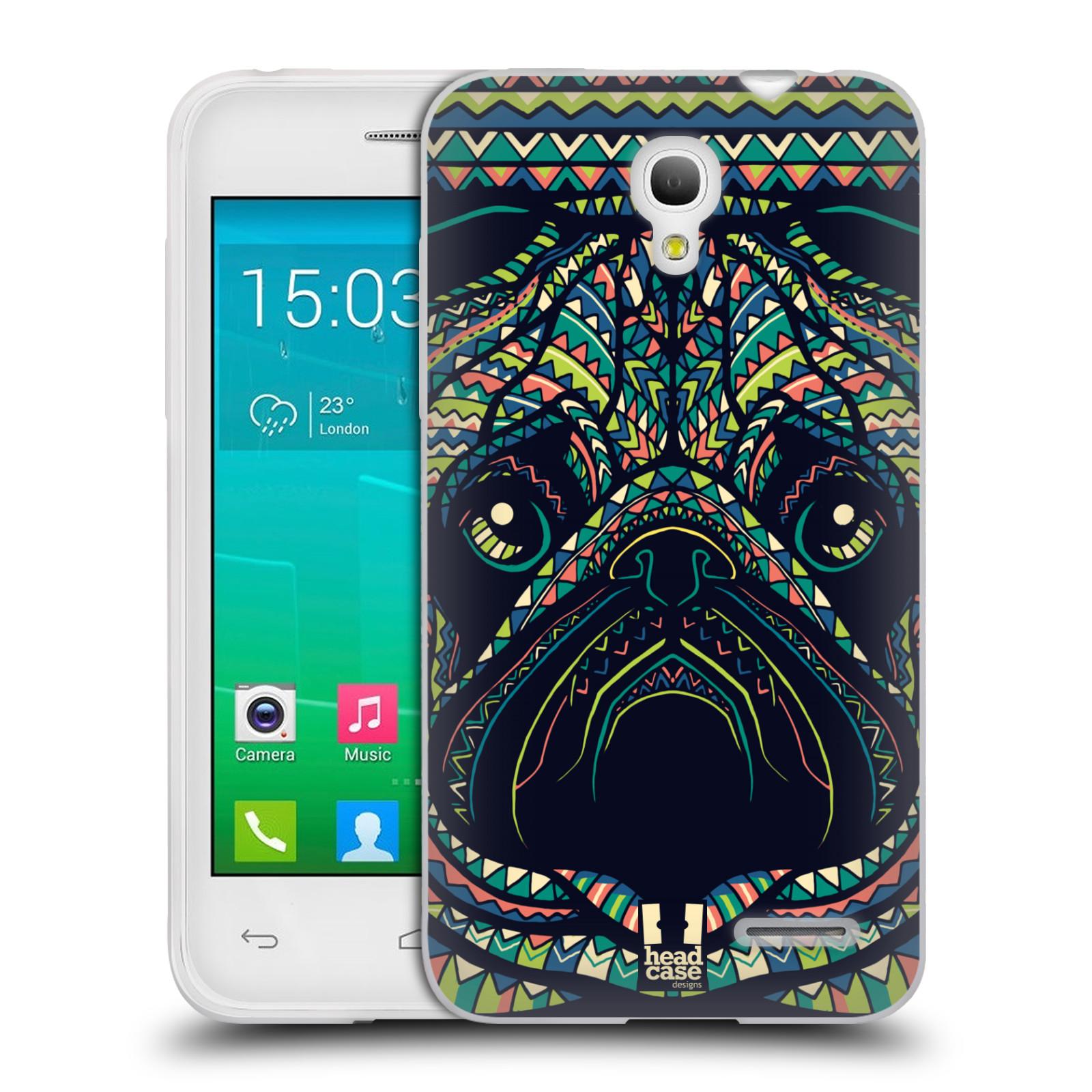 HEAD CASE silikonový obal na mobil Alcatel POP S3 OT-5050Y vzor Aztécký motiv zvíře 3 mopsík