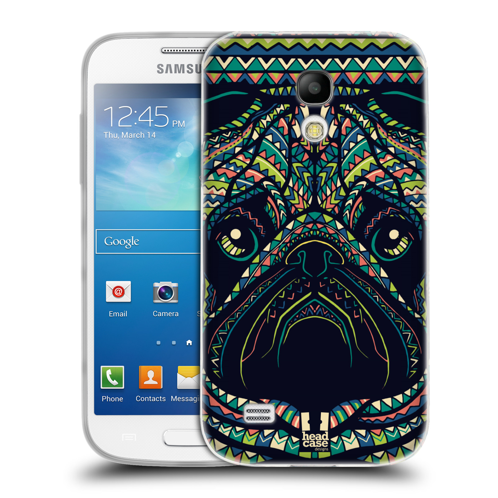 HEAD CASE silikonový obal na mobil Samsung Galaxy S4 MINI vzor Aztécký motiv zvíře 3 mopsík
