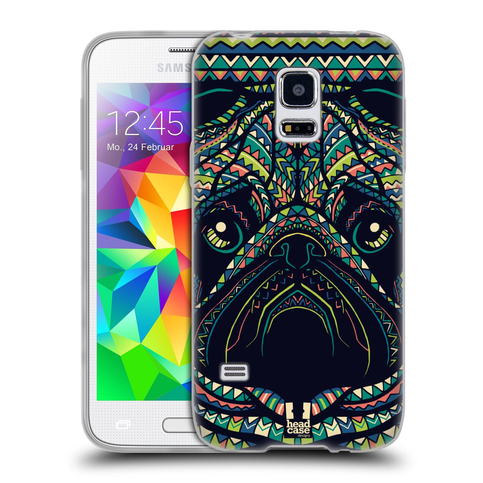 HEAD CASE silikonový obal na mobil Samsung Galaxy S5 MINI vzor Aztécký motiv zvíře 3 mopsík
