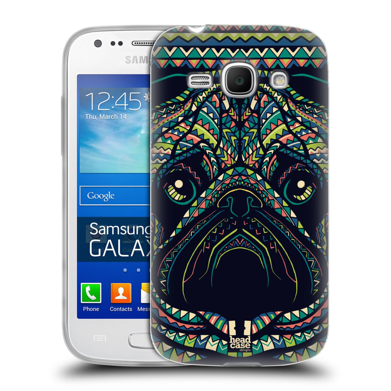 HEAD CASE silikonový obal na mobil Samsung Galaxy Ace 3 vzor Aztécký motiv zvíře 3 mopsík