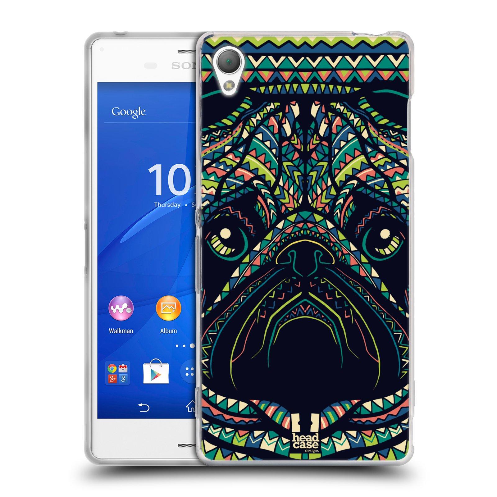 HEAD CASE silikonový obal na mobil Sony Xperia Z3 vzor Aztécký motiv zvíře 3 mopsík