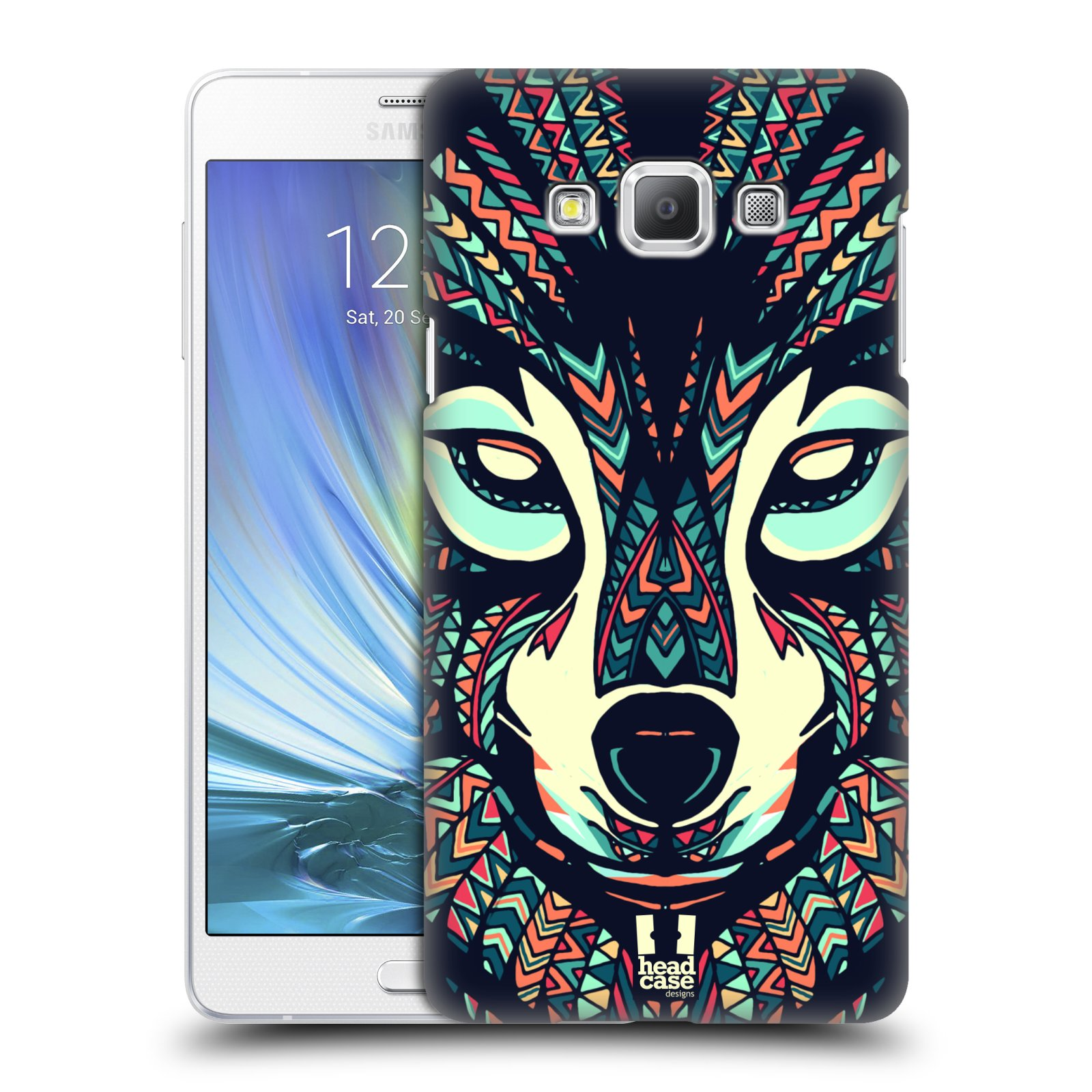 HEAD CASE plastový obal na mobil SAMSUNG GALAXY A7 vzor Aztécký motiv zvíře 3 vlk