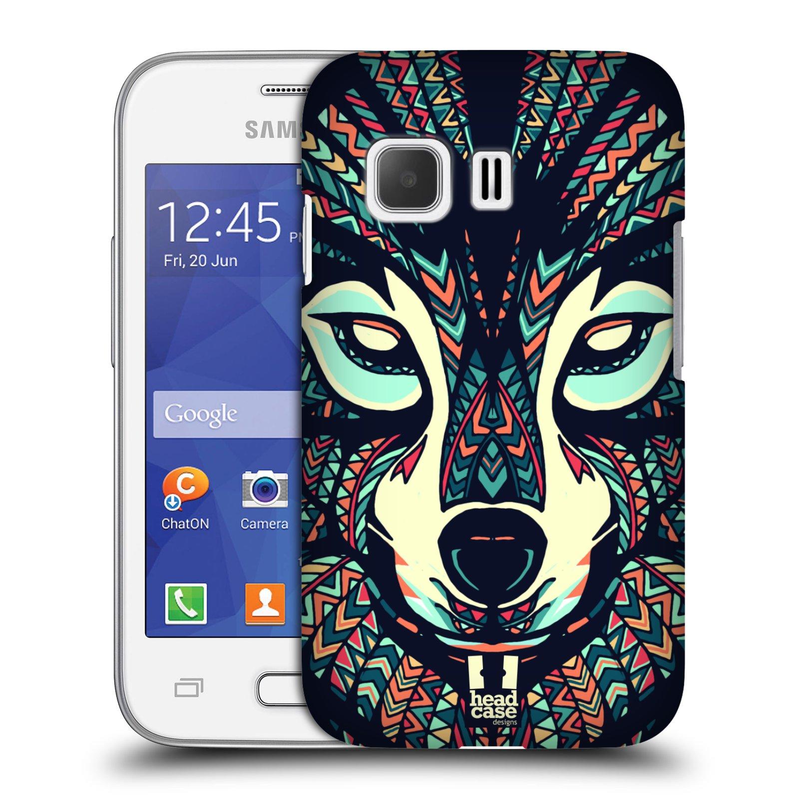 HEAD CASE plastový obal na mobil SAMSUNG Galaxy Young 2 (G130) vzor Aztécký motiv zvíře 3 vlk
