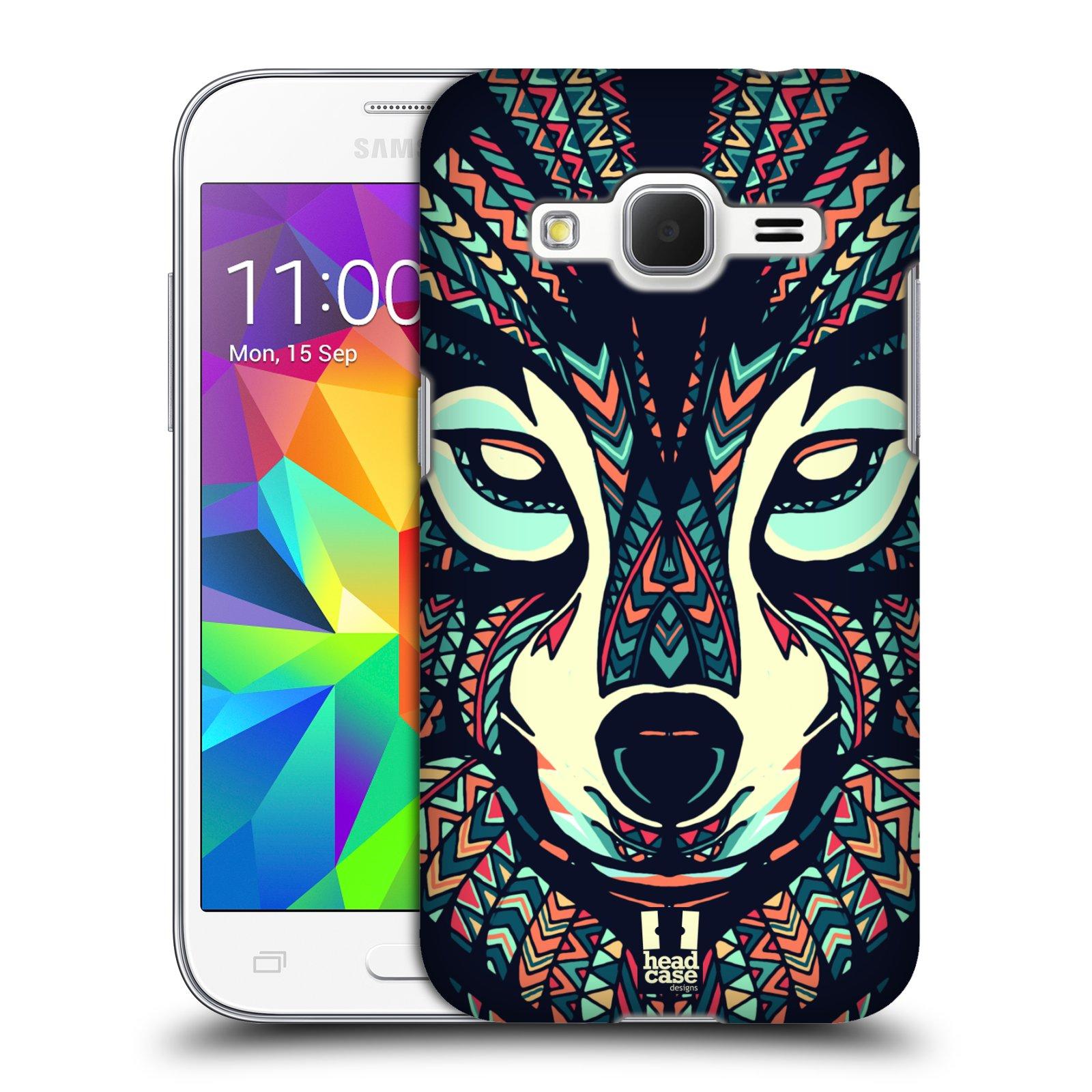 HEAD CASE plastový obal na mobil SAMSUNG GALAXY Core Prime (Core Prime VE) vzor Aztécký motiv zvíře 3 vlk