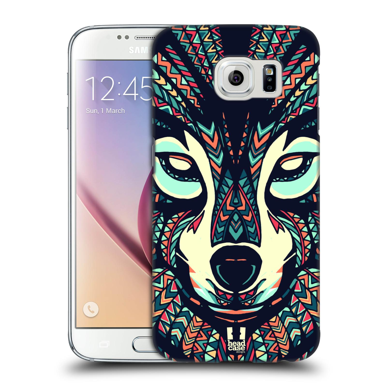 HEAD CASE plastový obal na mobil SAMSUNG Galaxy S6 (G9200, G920F) vzor Aztécký motiv zvíře 3 vlk