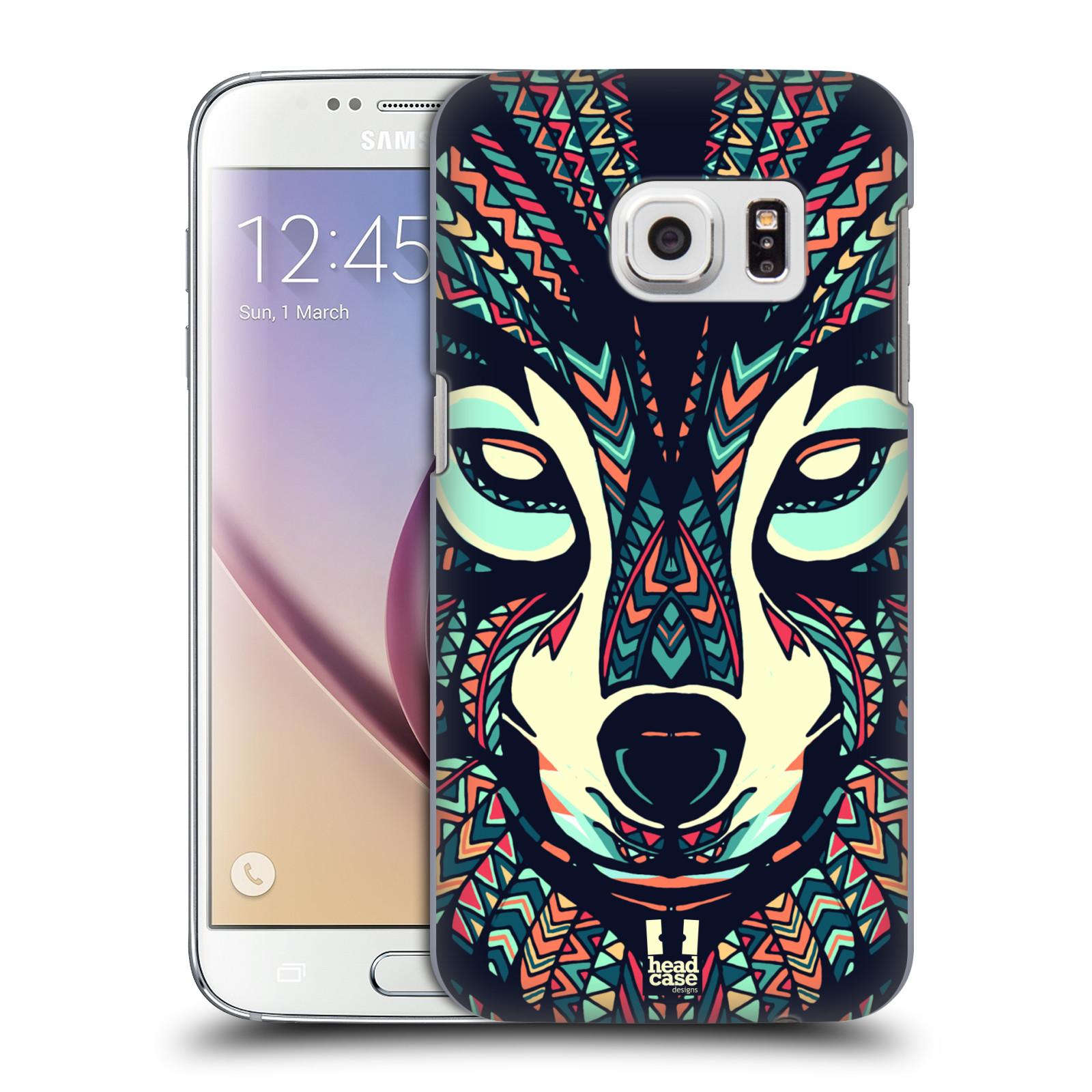 HEAD CASE plastový obal na mobil SAMSUNG GALAXY S7 vzor Aztécký motiv zvíře 3 vlk