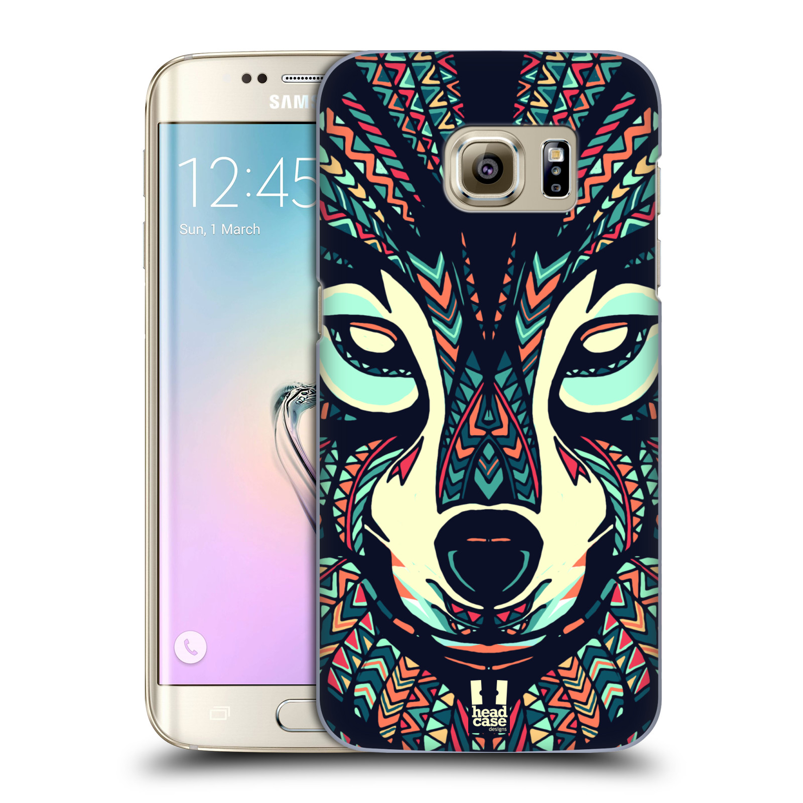 HEAD CASE plastový obal na mobil SAMSUNG GALAXY S7 EDGE vzor Aztécký motiv zvíře 3 vlk