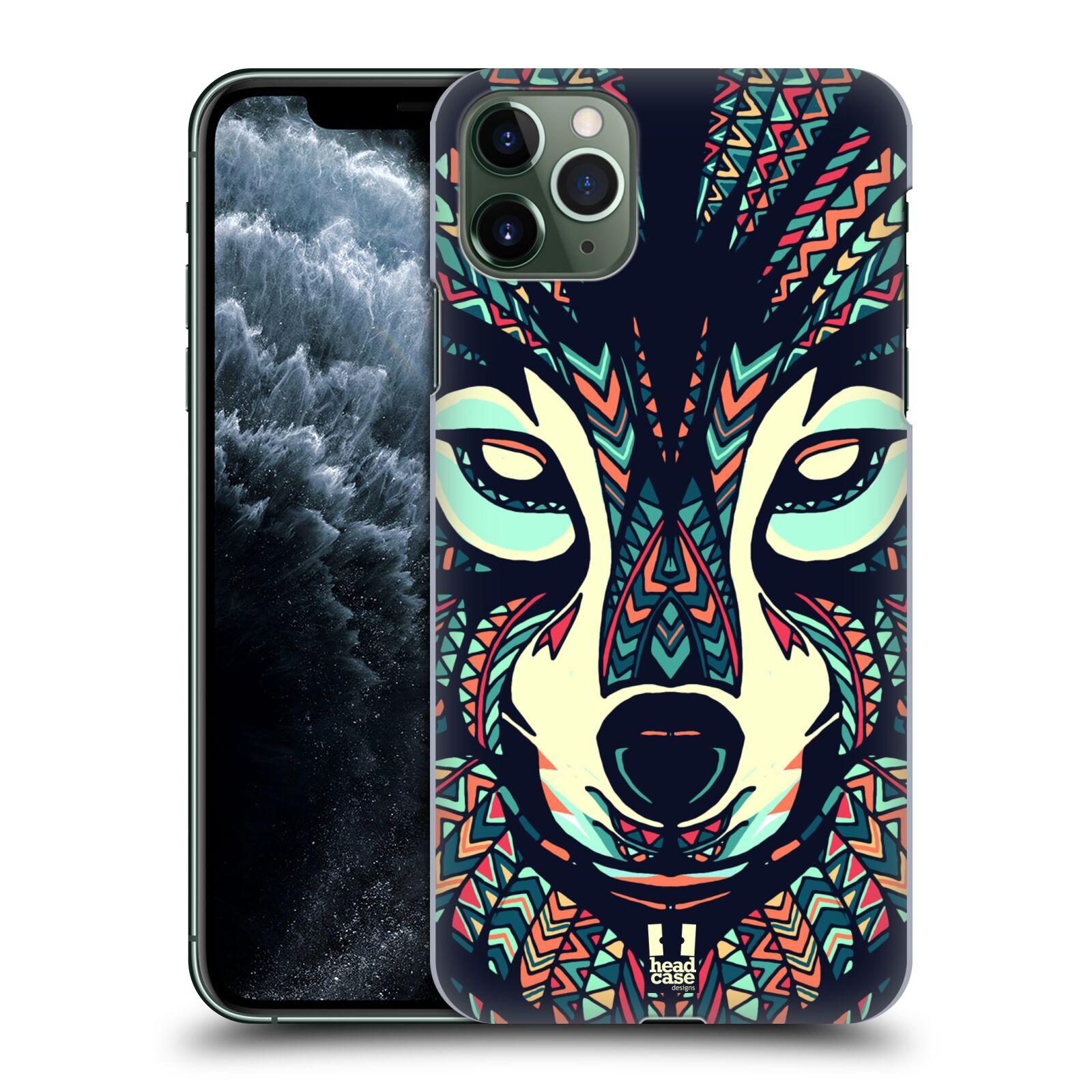 Pouzdro na mobil Apple Iphone 11 PRO MAX - HEAD CASE - vzor Aztécký motiv zvíře 3 vlk