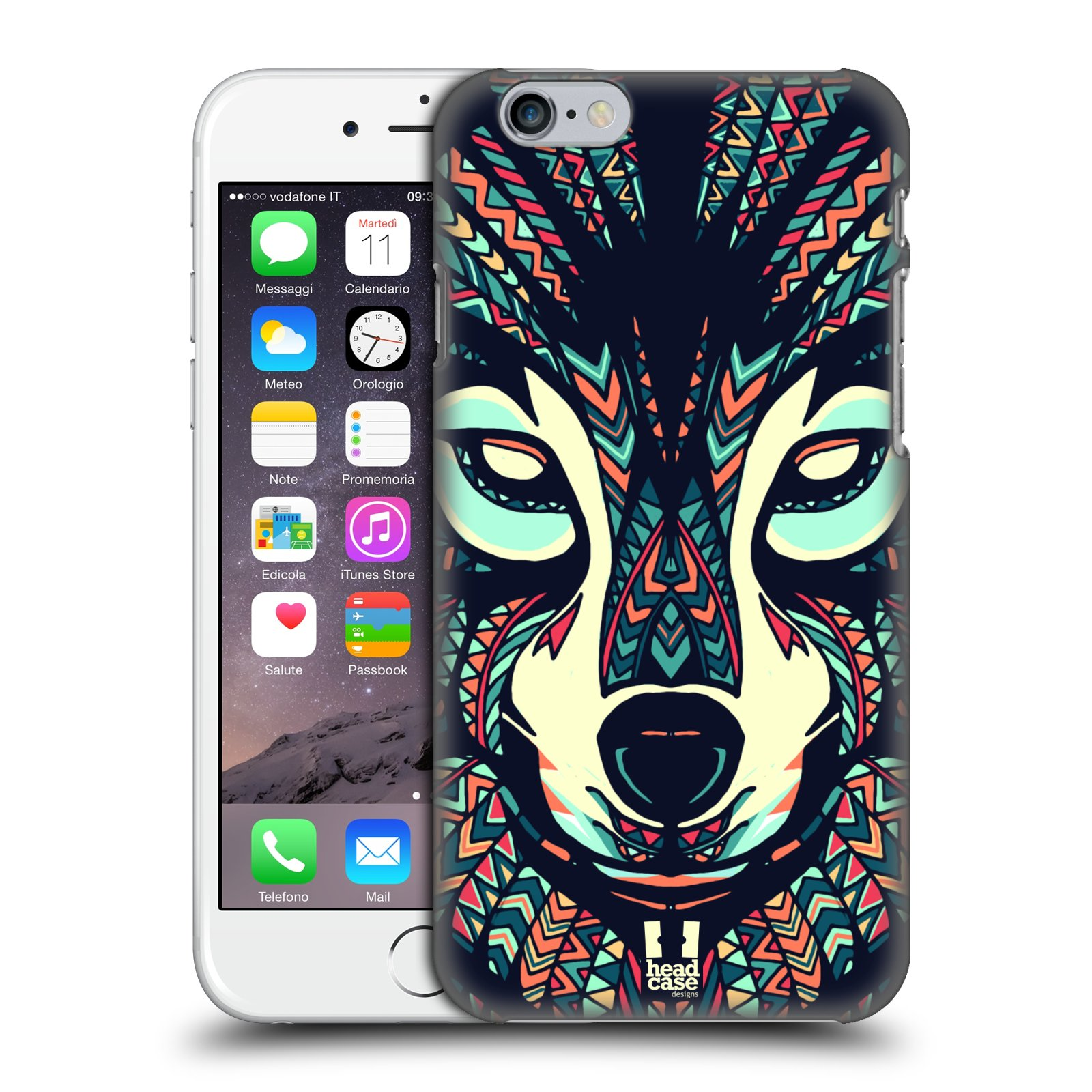 Plastové pouzdro pro mobil Apple Iphone 6/6S vzor Aztécký motiv zvíře 3 vlk