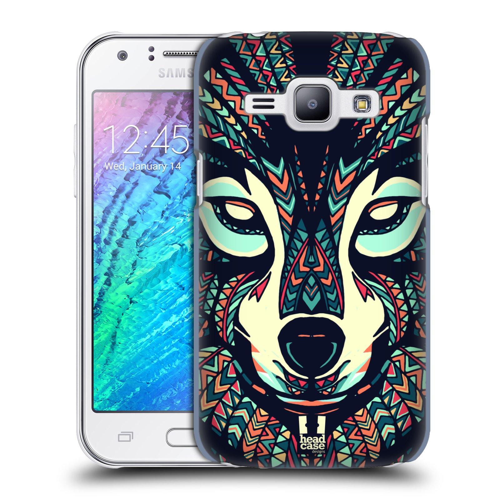 HEAD CASE plastový obal na mobil SAMSUNG Galaxy J1, J100 vzor Aztécký motiv zvíře 3 vlk