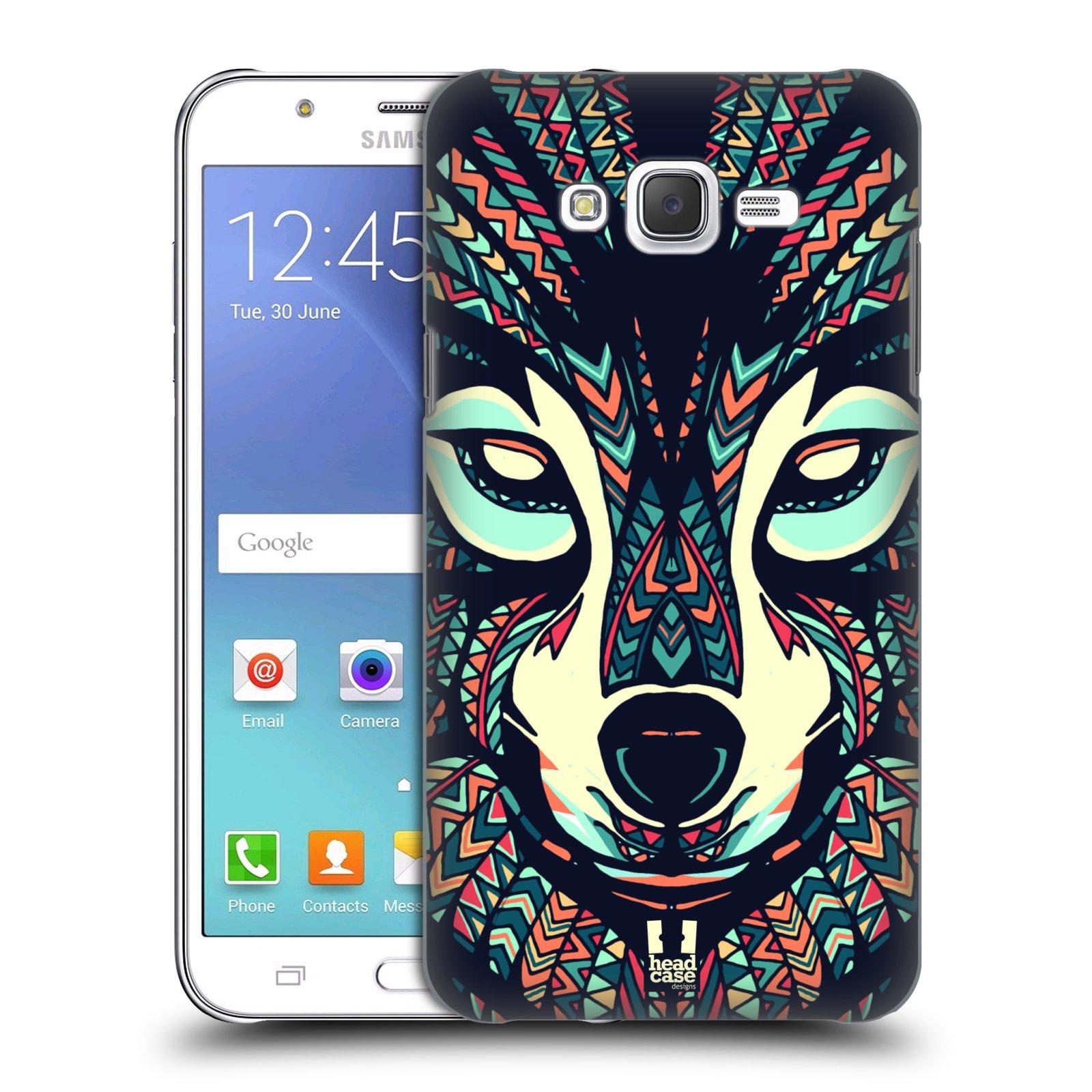 HEAD CASE plastový obal na mobil SAMSUNG Galaxy J7, J700 vzor Aztécký motiv zvíře 3 vlk