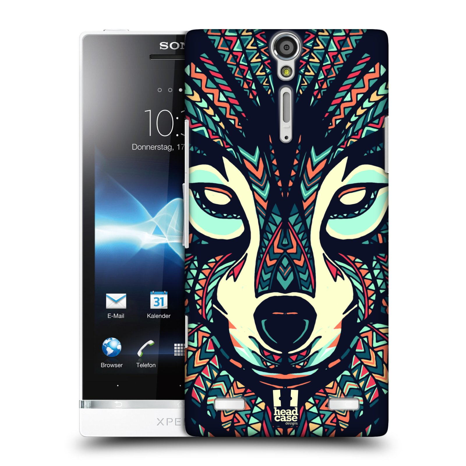 HEAD CASE DESIGNS AZTEC ANIMAL FACES 3 CASE COVER FOR SONY XPERIA S LT26i