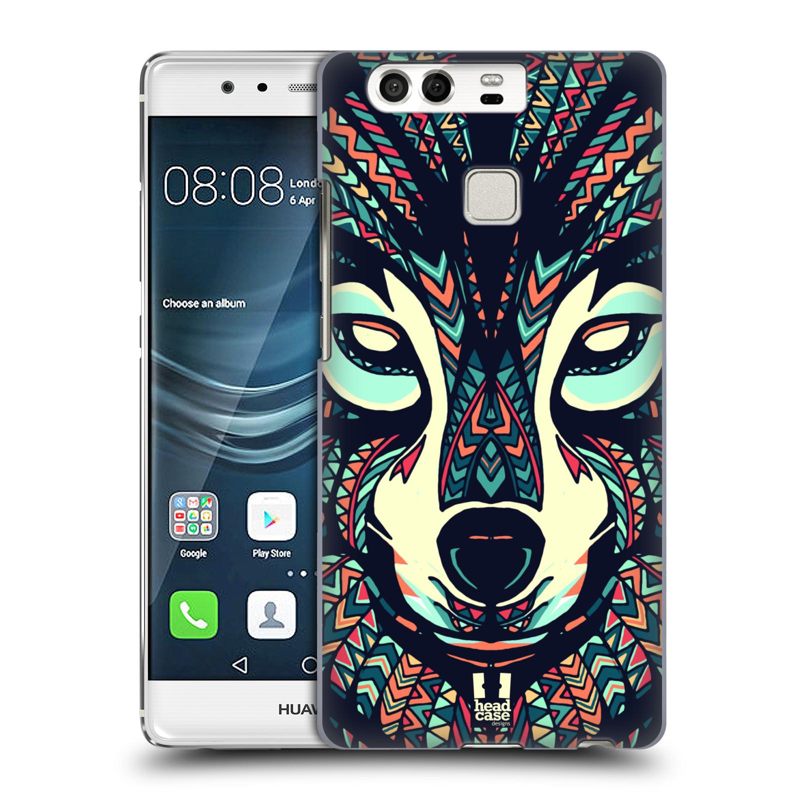 HEAD CASE plastový obal na mobil Huawei P9 / P9 DUAL SIM vzor Aztécký motiv zvíře 3 vlk