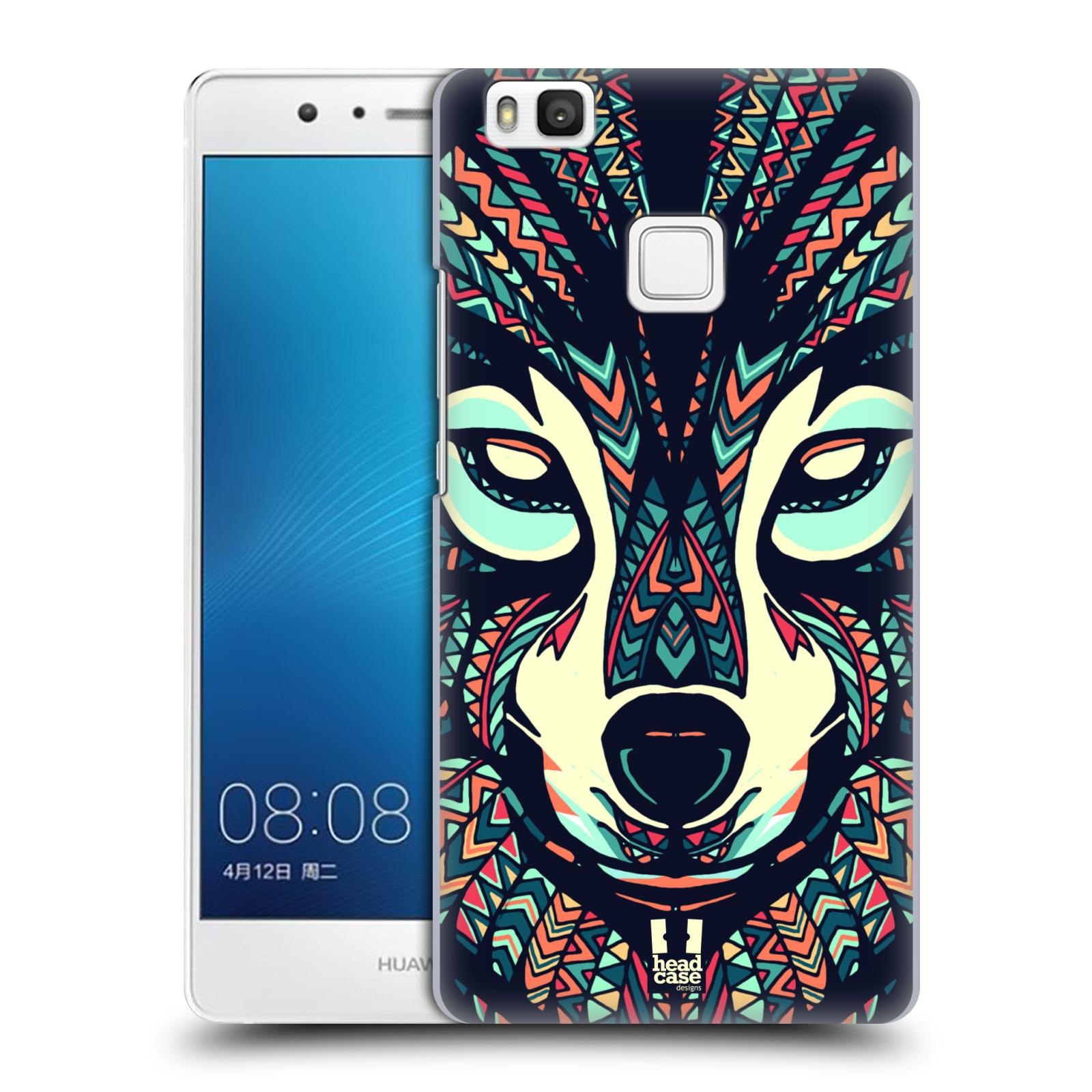 HEAD CASE plastový obal na mobil Huawei P9 LITE / P9 LITE DUAL SIM vzor Aztécký motiv zvíře 3 vlk