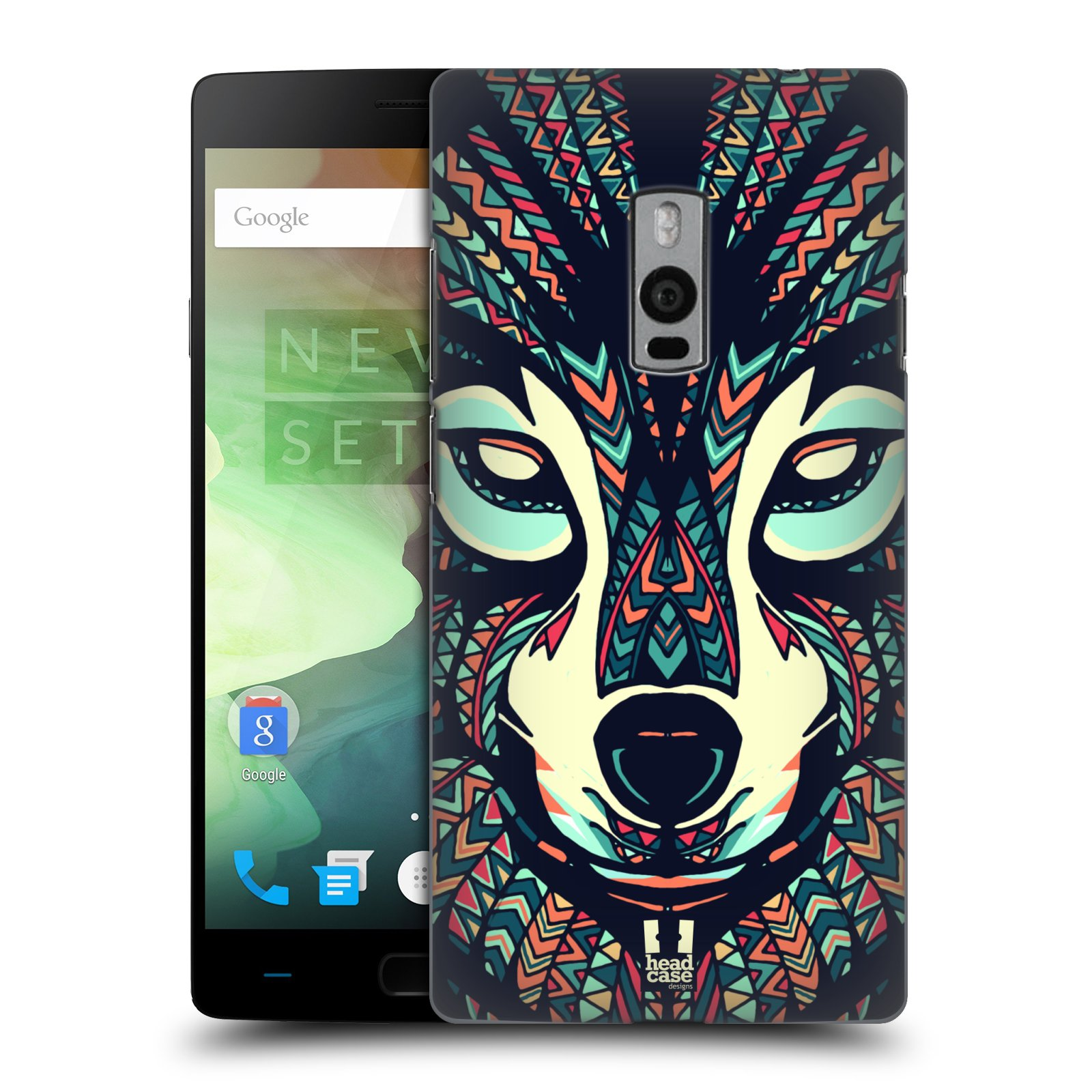 HEAD CASE pevný plastový obal na mobil OnePlus 2  ( TWO ) vzor Aztécký motiv zvíře 3 vlk