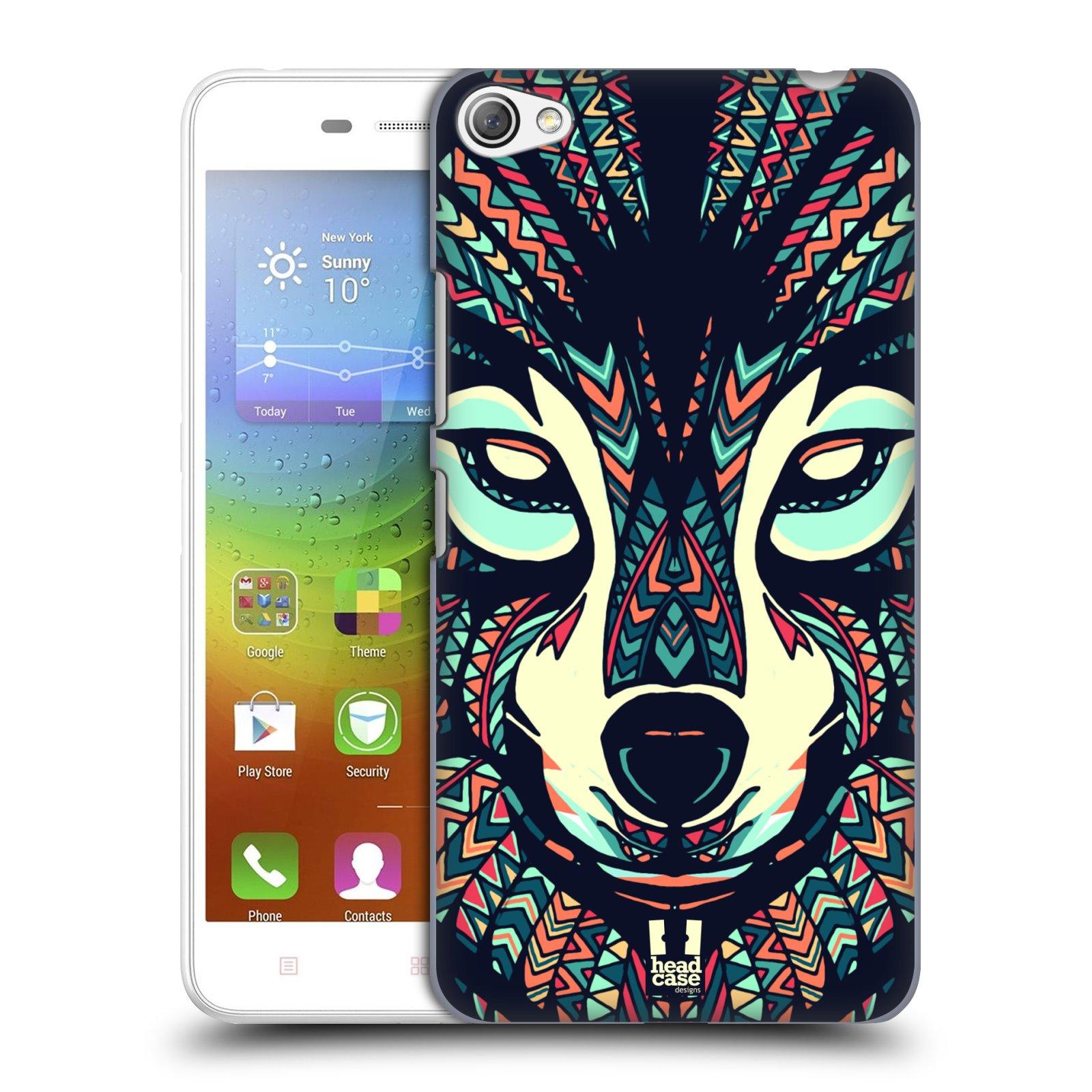 HEAD CASE pevný plastový obal na mobil LENOVO S60 / LENOVO S60 DUAL SIM vzor Aztécký motiv zvíře 3 vlk
