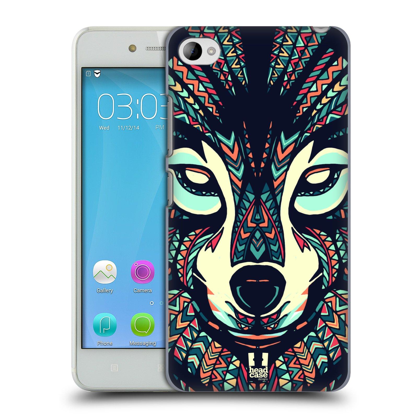HEAD CASE pevný plastový obal na mobil LENOVO S90 vzor Aztécký motiv zvíře 3 vlk