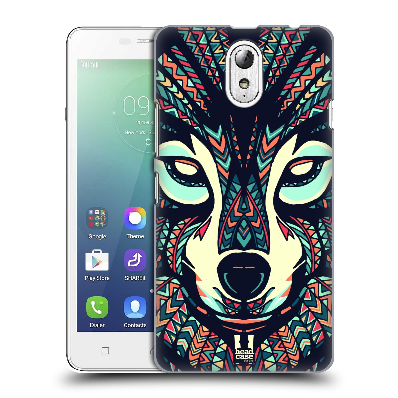 HEAD CASE pevný plastový obal na mobil LENOVO VIBE P1m / LENOVO VIBE p1m DUAL SIM vzor Aztécký motiv zvíře 3 vlk