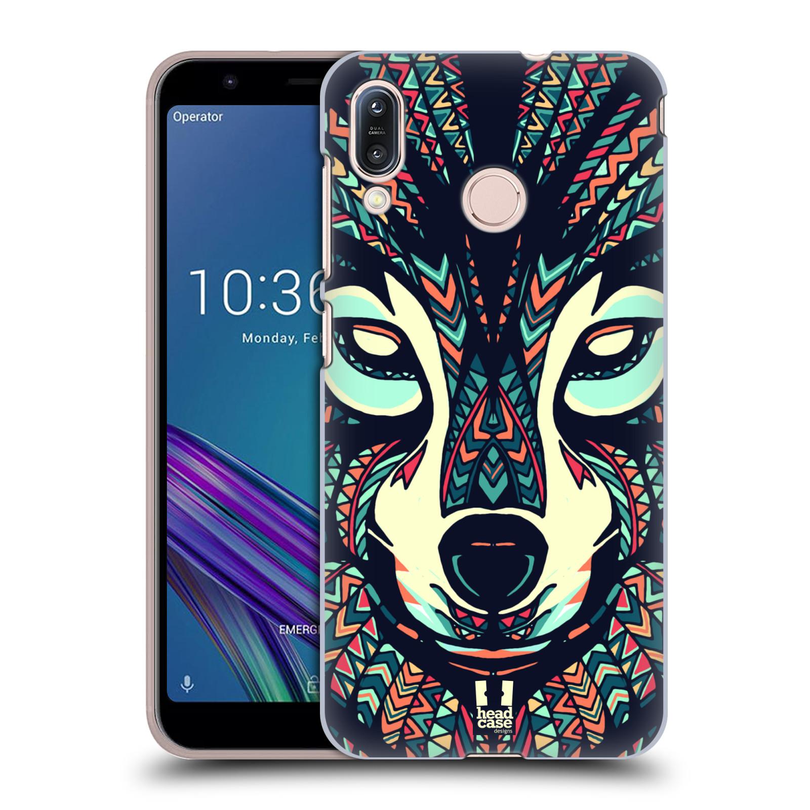 Pouzdro na mobil Asus Zenfone Max M1 (ZB555KL) - HEAD CASE - vzor Aztécký motiv zvíře 3 vlk