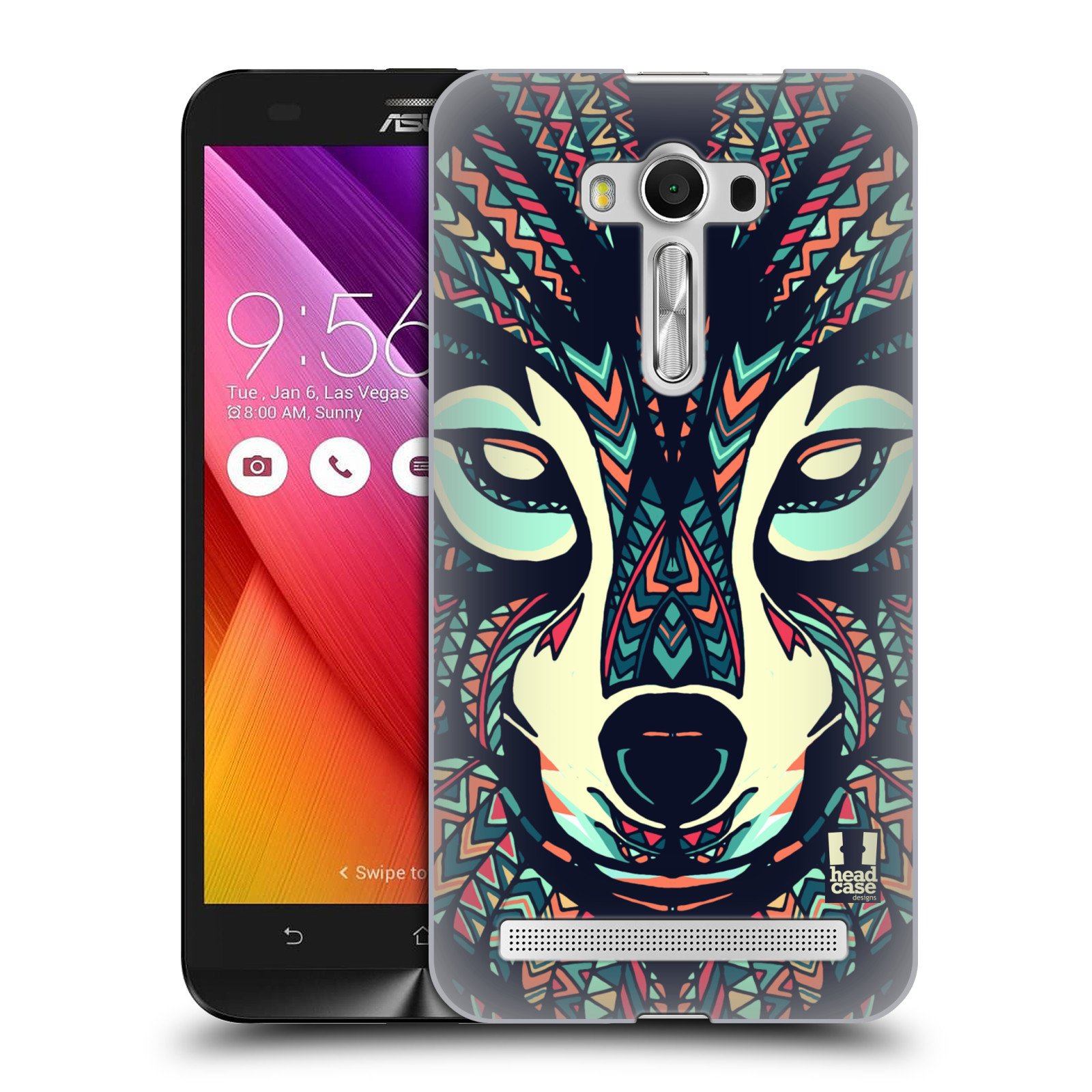 HEAD CASE plastový obal na mobil Asus Zenfone 2 LASER (5,5 displej ZE550KL) vzor Aztécký motiv zvíře 3 vlk
