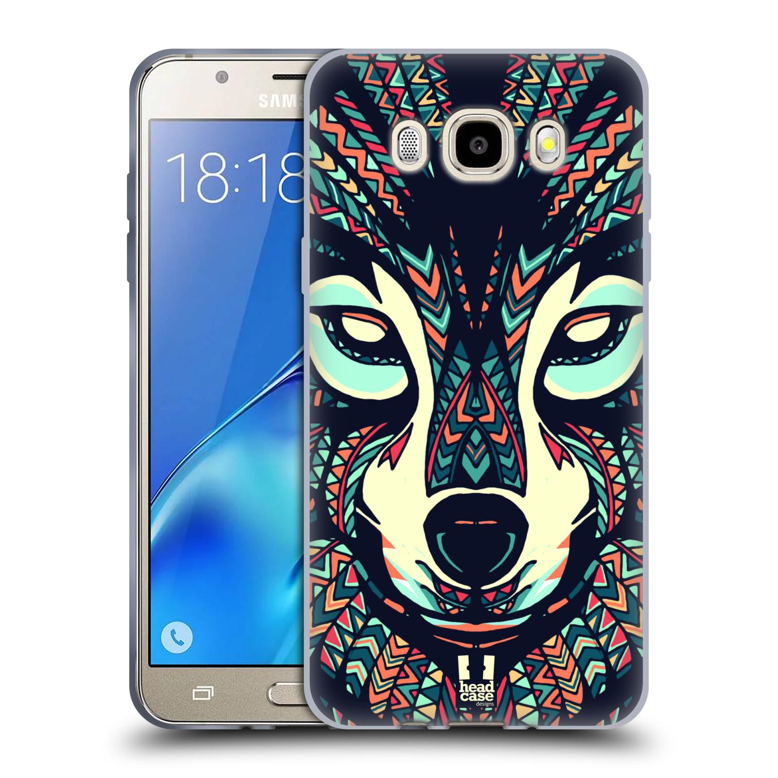 HEAD CASE silikonový obal, kryt na mobil Samsung Galaxy J5 2016, J510, J510F, (J510F DUAL SIM) vzor Aztécký motiv zvíře 3 vlk