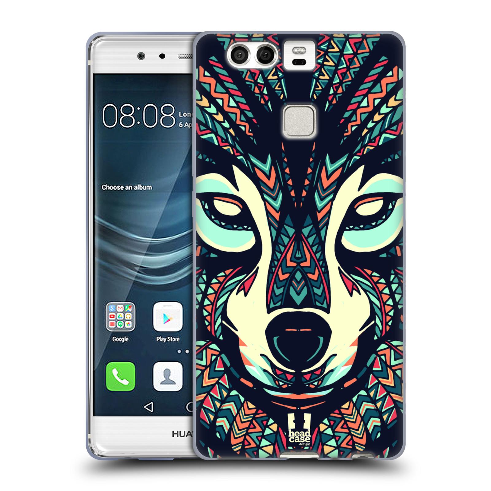 HEAD CASE silikonový obal na mobil Huawei P9 / P9 DUAL SIM vzor Aztécký motiv zvíře 3 vlk