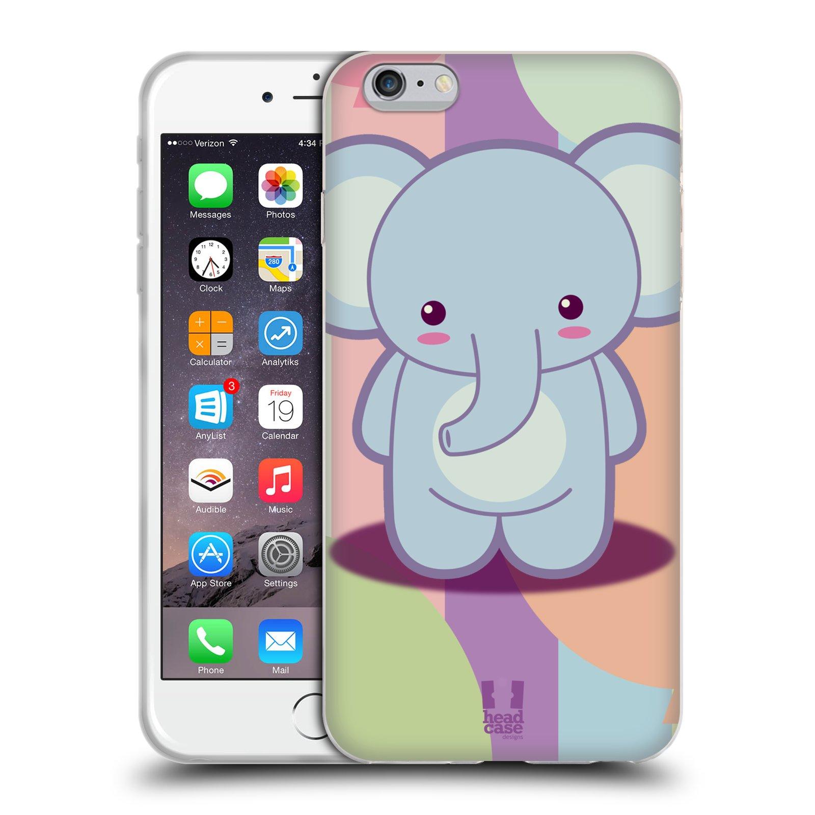 HEAD CASE silikonový obal na mobil Apple Iphone 6 PLUS/ 6S PLUS vzor malý sloník modrý