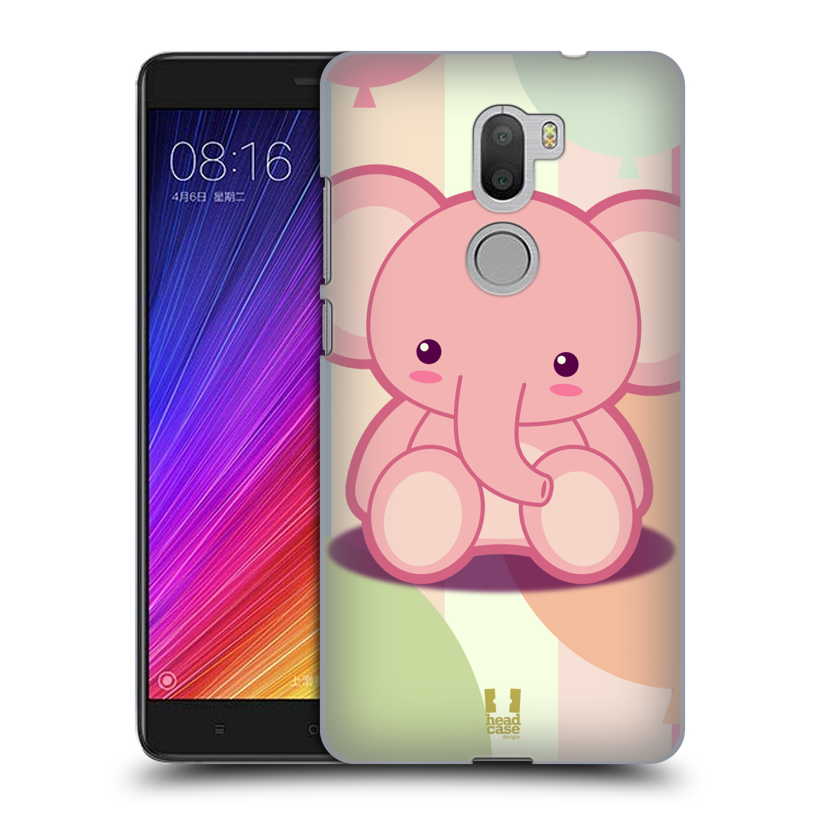 HEAD-CASE-DESIGNS-BABY-ELEPHANTS-HARD-BACK-CASE-FOR-XIAOMI-Mi-5s-PLUS