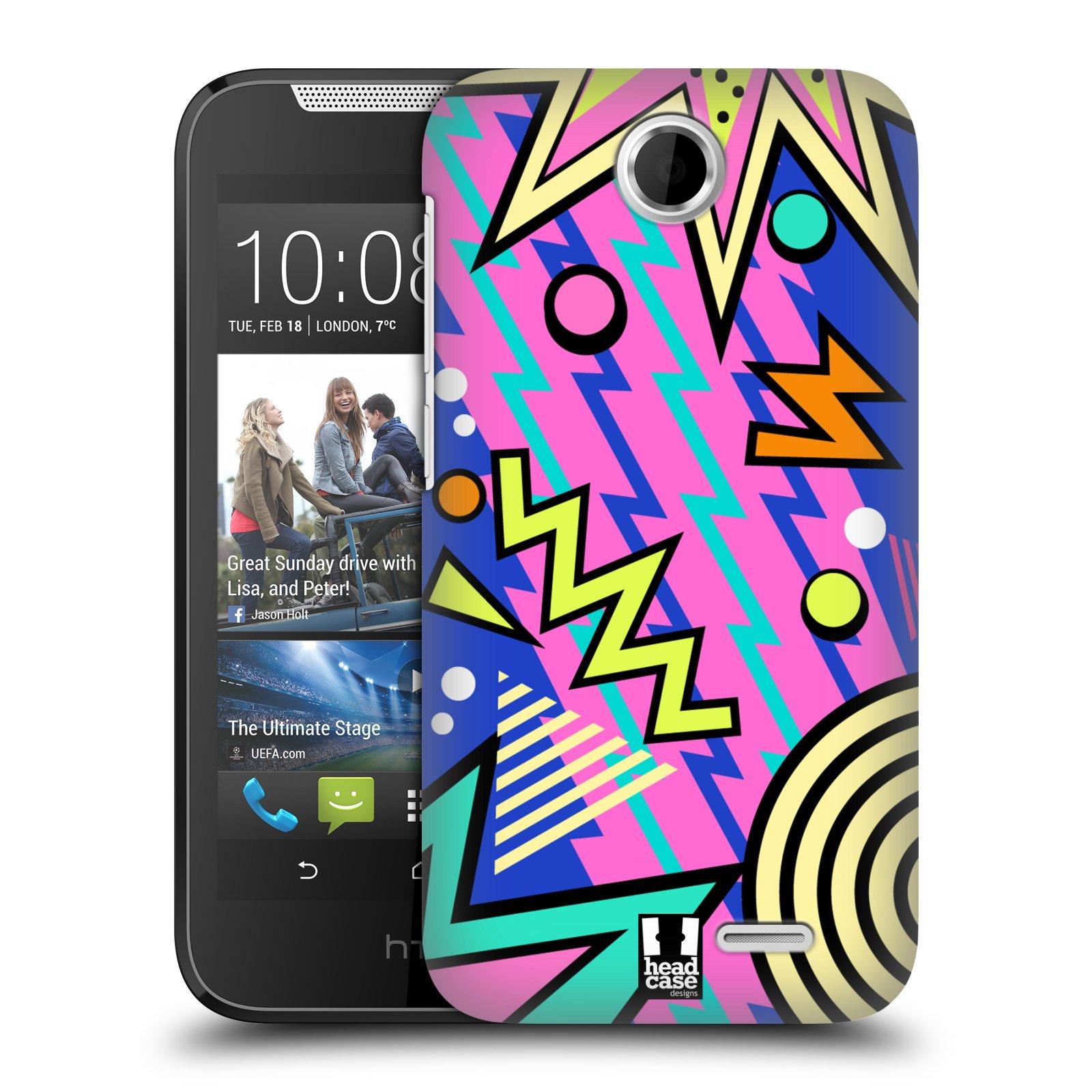 HEAD CASE plastový obal na mobil HTC Desire 310 vzor Návrat do 80 let tvary