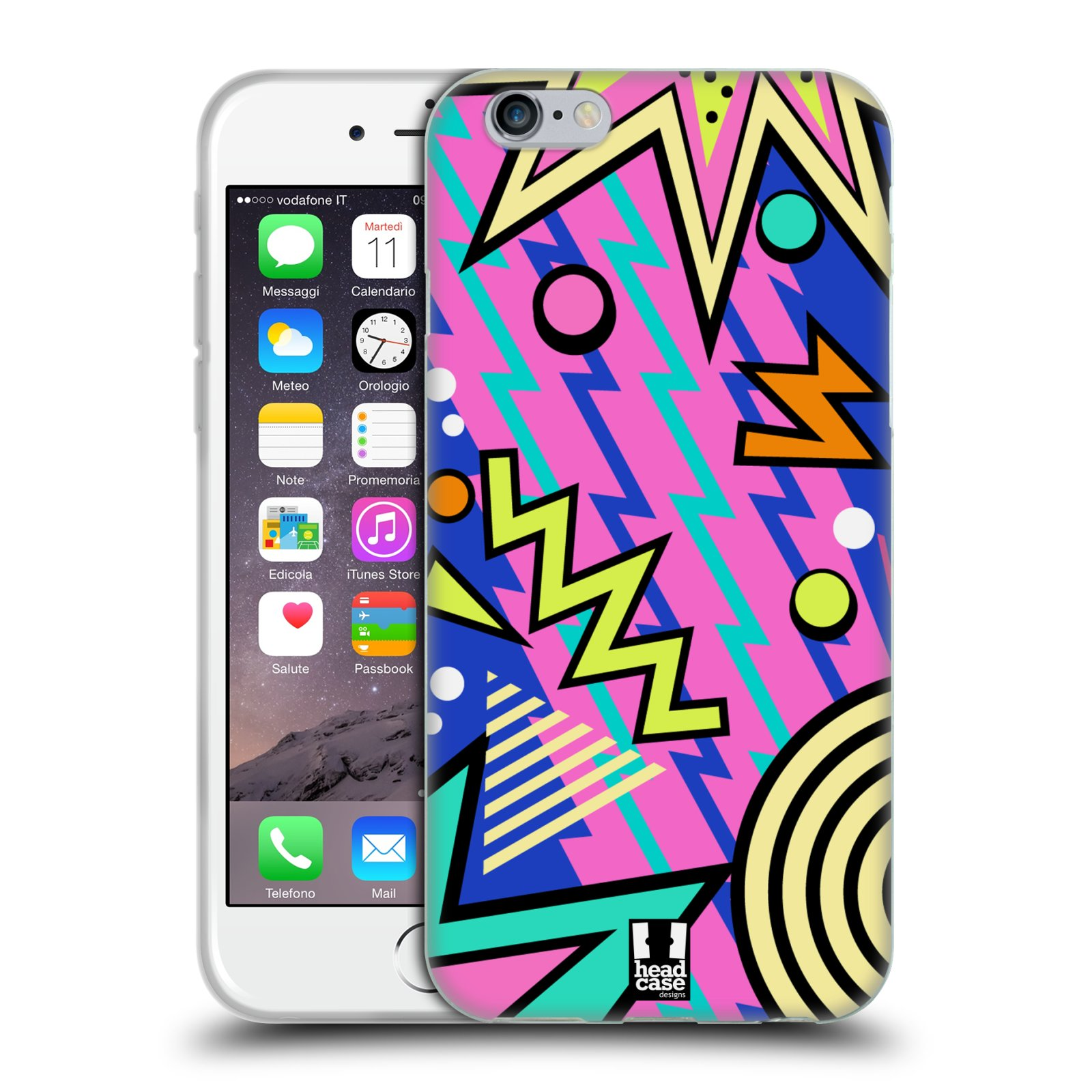 HEAD CASE silikonový obal na mobil Apple Iphone 6/6S vzor Návrat do 80 let tvary
