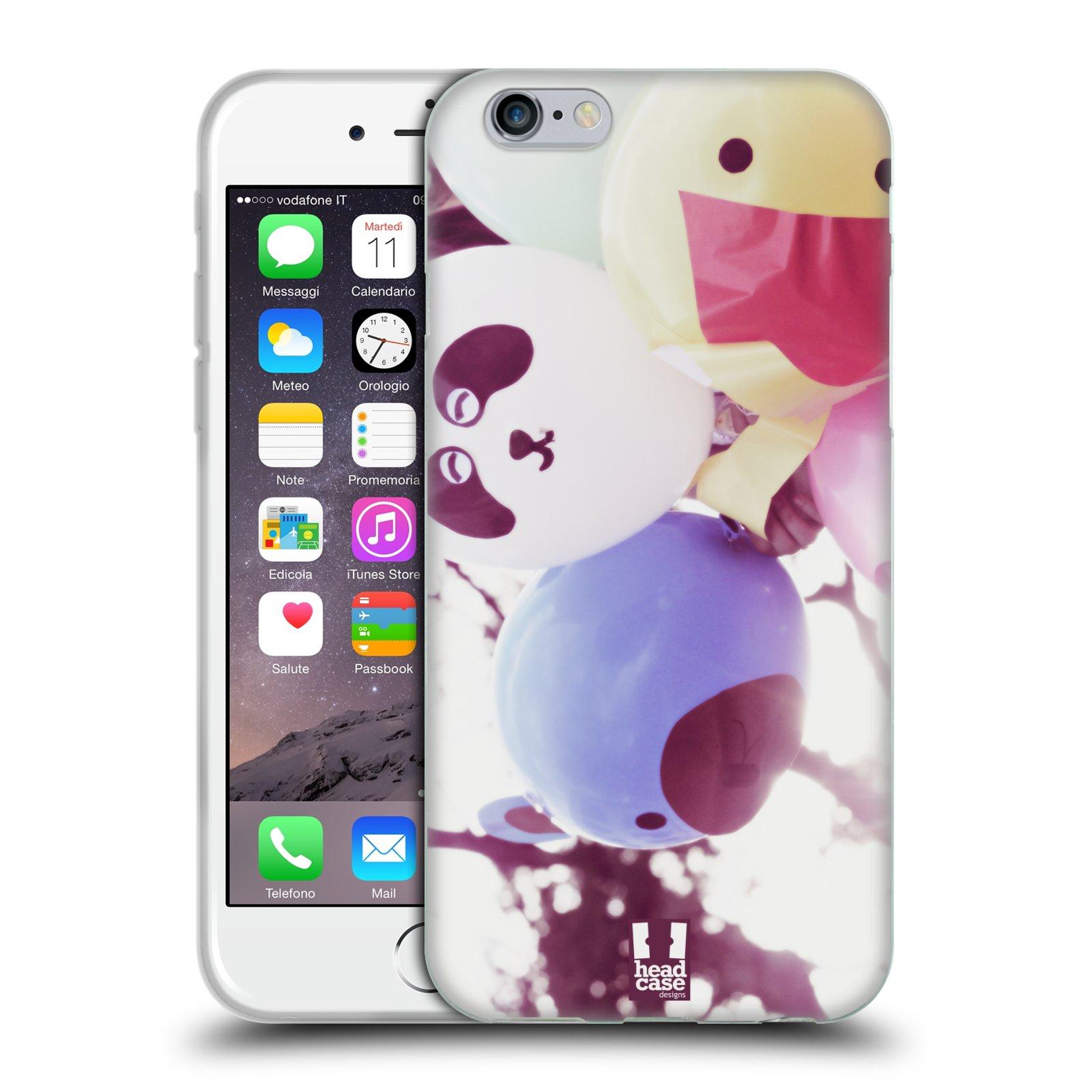 HEAD CASE silikonový obal na mobil Apple Iphone 6/6S vzor Balónková zvířátka foto sen