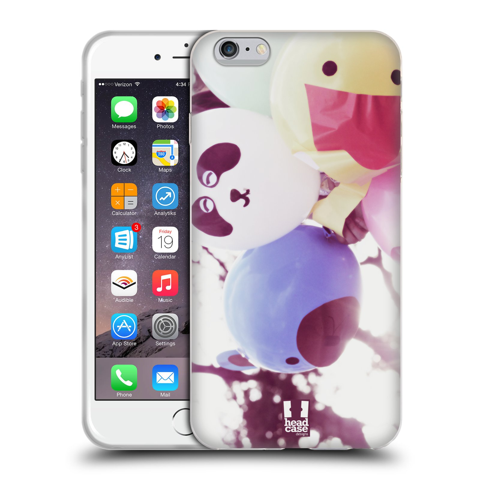 HEAD CASE silikonový obal na mobil Apple Iphone 6 PLUS/ 6S PLUS vzor Balónková zvířátka foto sen