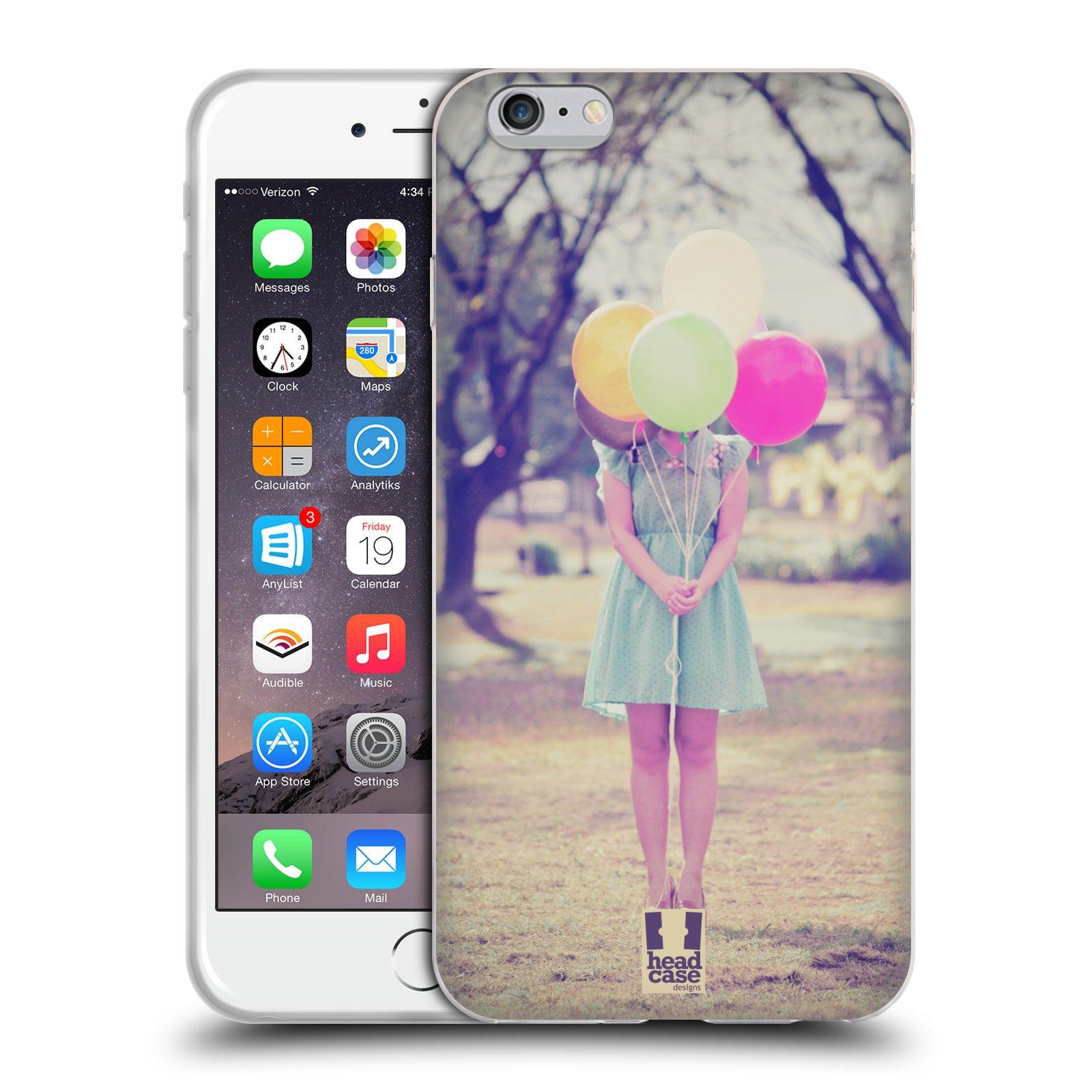 HEAD CASE silikonový obal na mobil Apple Iphone 6 PLUS/ 6S PLUS vzor Balónková zvířátka foto holčička