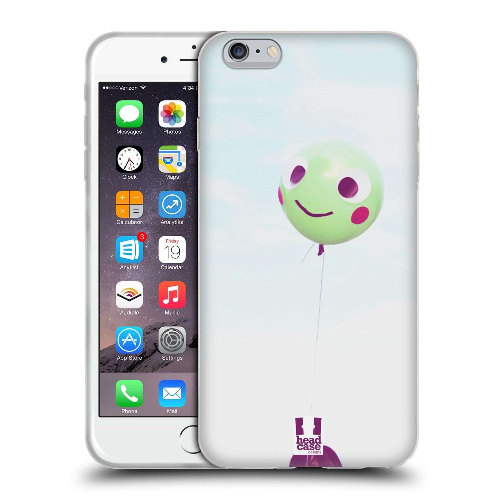 HEAD CASE silikonový obal na mobil Apple Iphone 6 PLUS/ 6S PLUS vzor Balónková zvířátka foto žába
