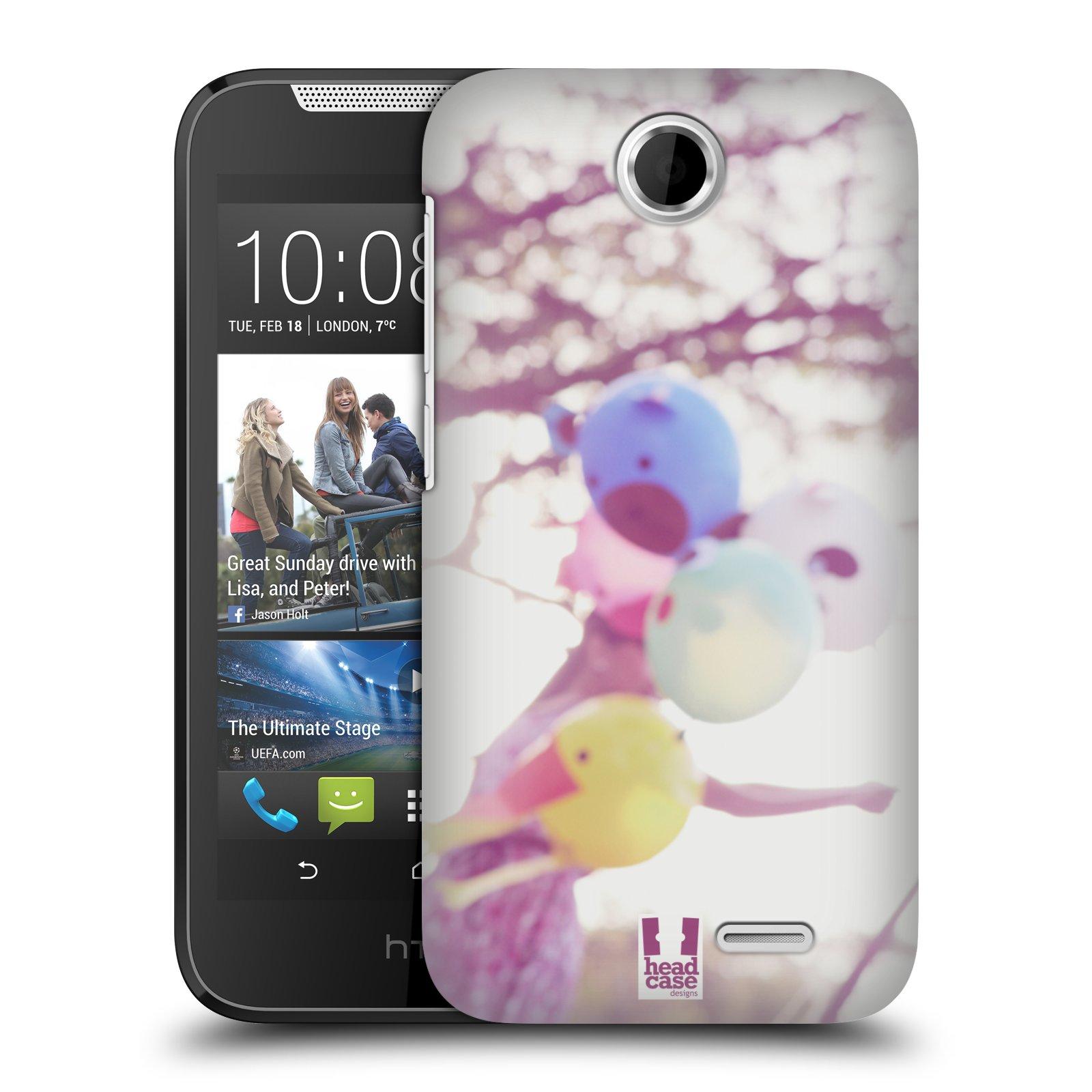 HEAD CASE plastový obal na mobil HTC Desire 310 vzor Balónková zvířátka foto nostalgie
