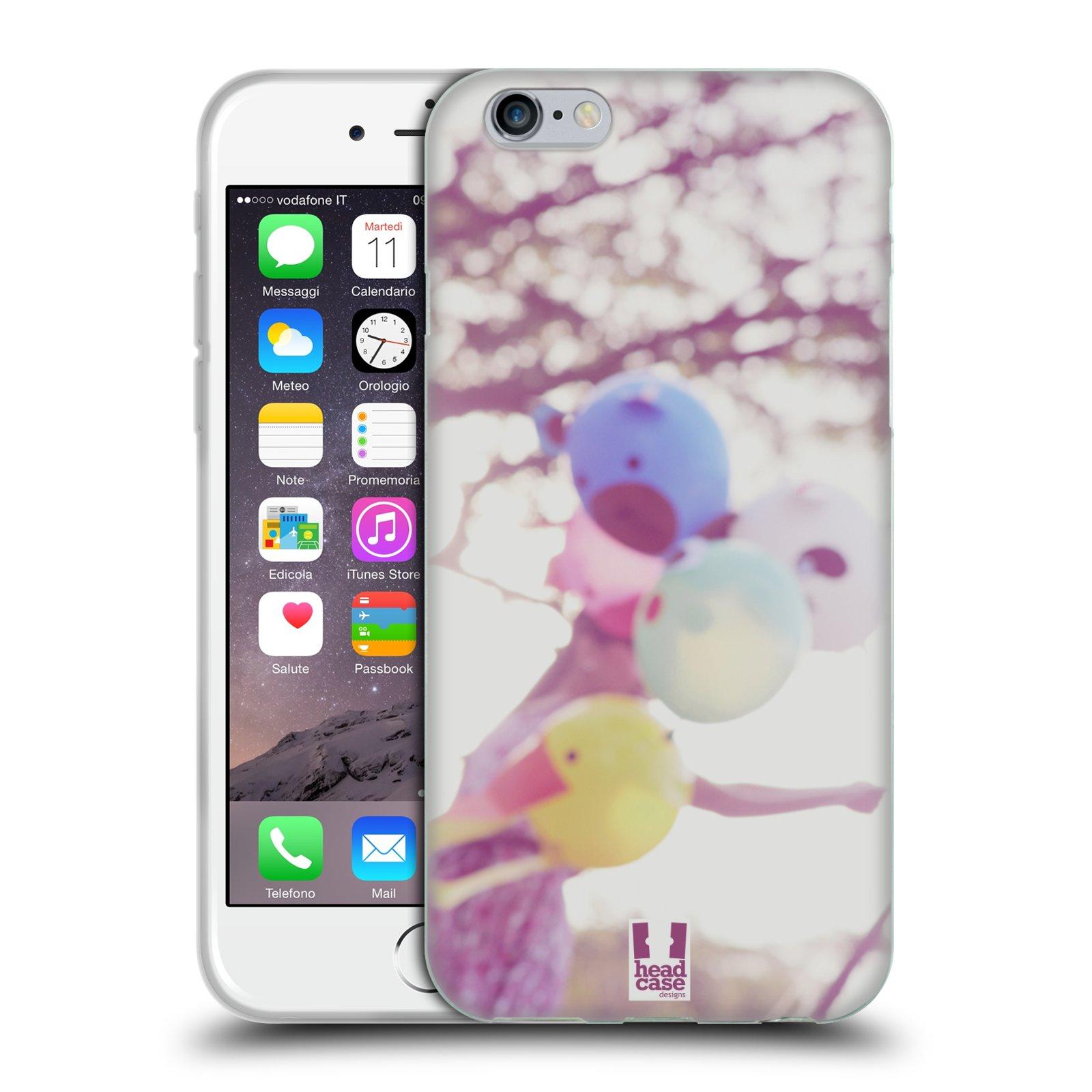 HEAD CASE silikonový obal na mobil Apple Iphone 6/6S vzor Balónková zvířátka foto nostalgie