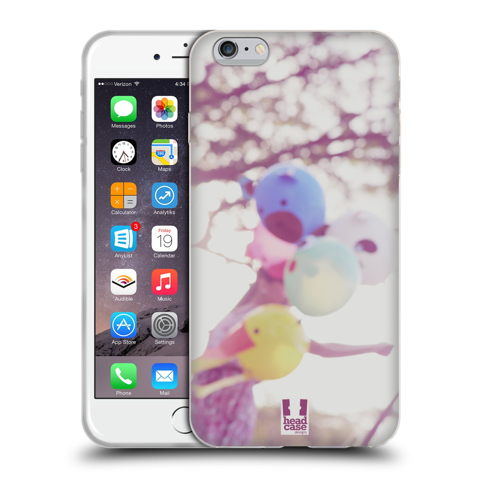 HEAD CASE silikonový obal na mobil Apple Iphone 6 PLUS/ 6S PLUS vzor Balónková zvířátka foto nostalgie