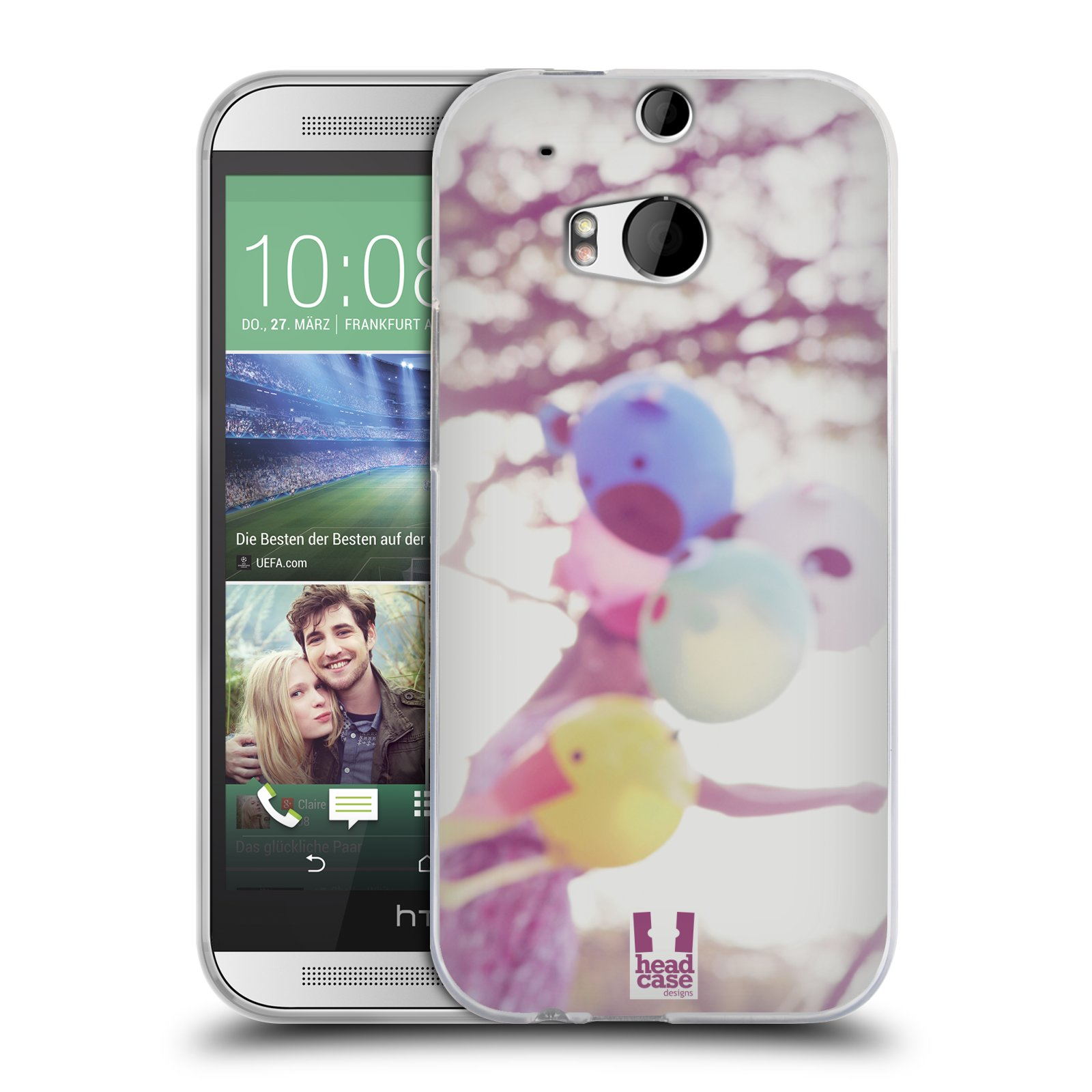 HEAD CASE silikonový obal na mobil HTC ONE (M8) vzor Balónková zvířátka foto nostalgie