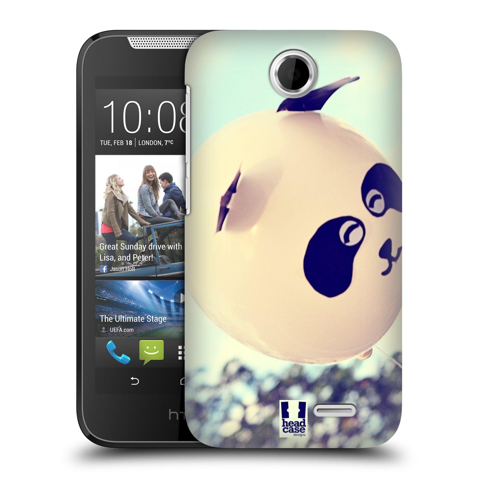 HEAD CASE plastový obal na mobil HTC Desire 310 vzor Balónková zvířátka foto panda