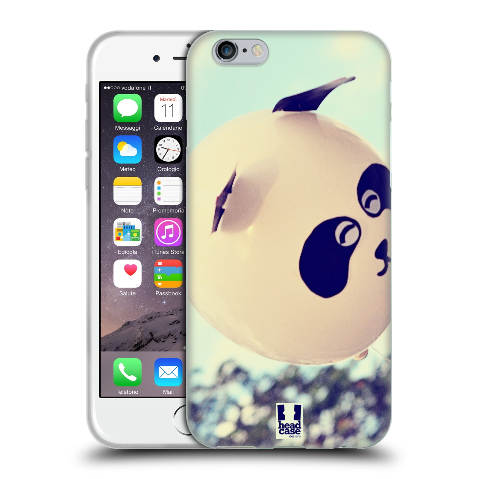 HEAD CASE silikonový obal na mobil Apple Iphone 6/6S vzor Balónková zvířátka foto panda
